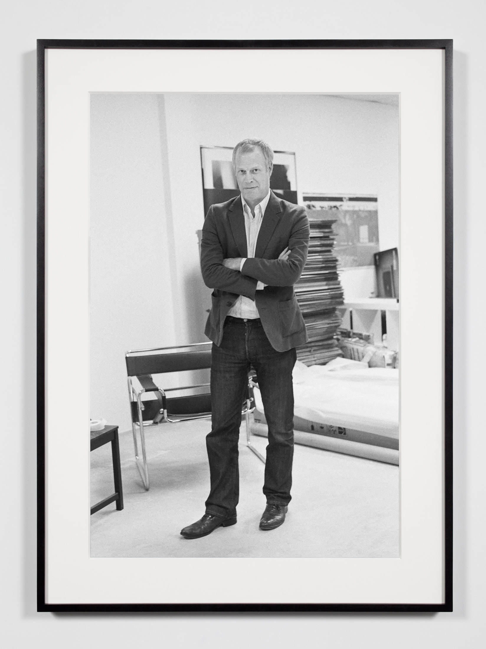 Art Fair Director (DH), Los Angeles, California, July 20, 2008    2008   Epson Ultrachrome K3 archival ink jet print on Hahnemühle Photo Rag paper  36 3/8 x 26 3/8 inches   Industrial Portraits, 2008–