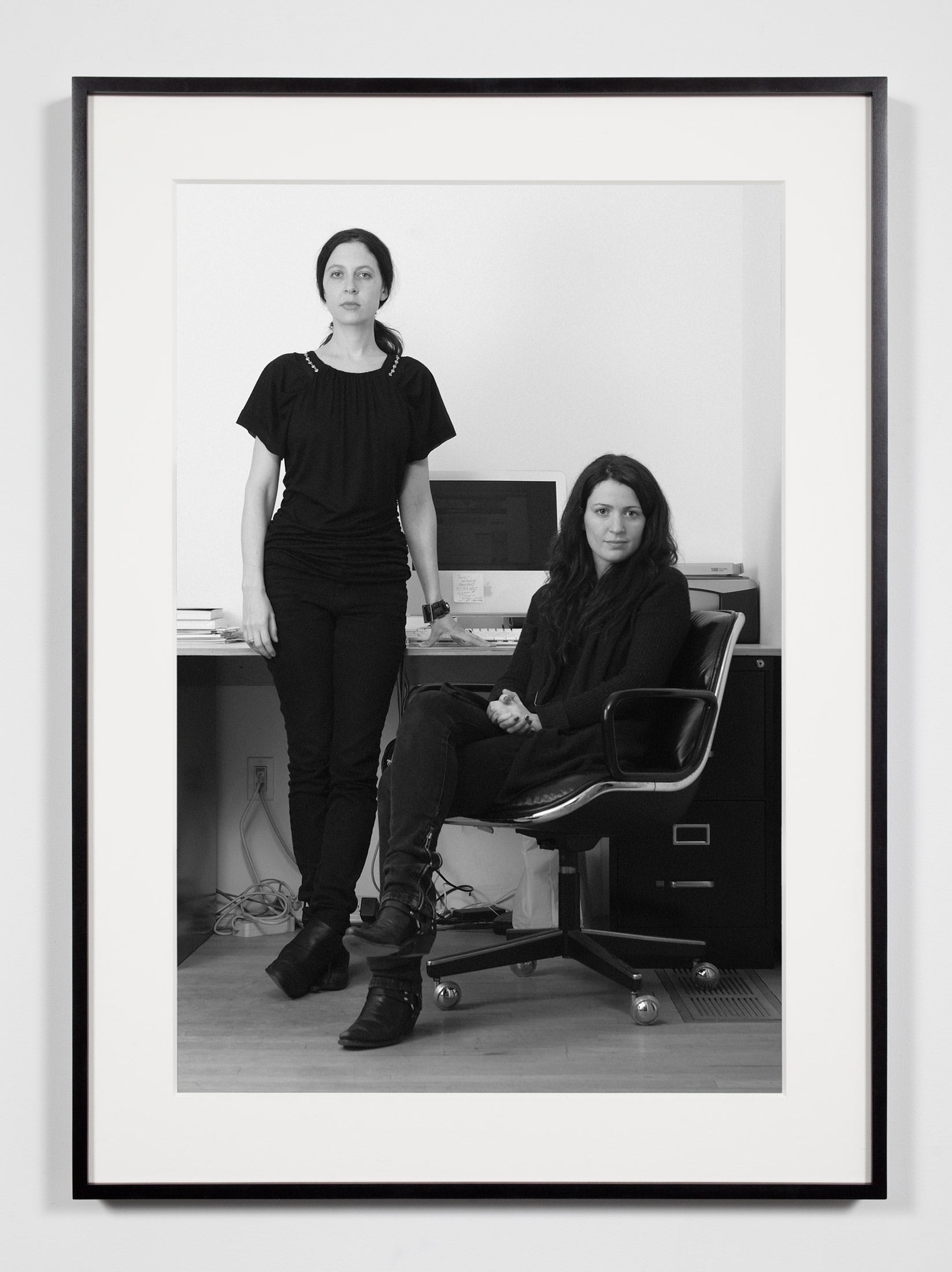 Gallerists (JF/JH), New York, New York, February 19, 2008    2008   Epson Ultrachrome K3 archival ink jet print on Hahnemühle Photo Rag paper  36 3/8 x 26 3/8 inches   Industrial Portraits, 2008–