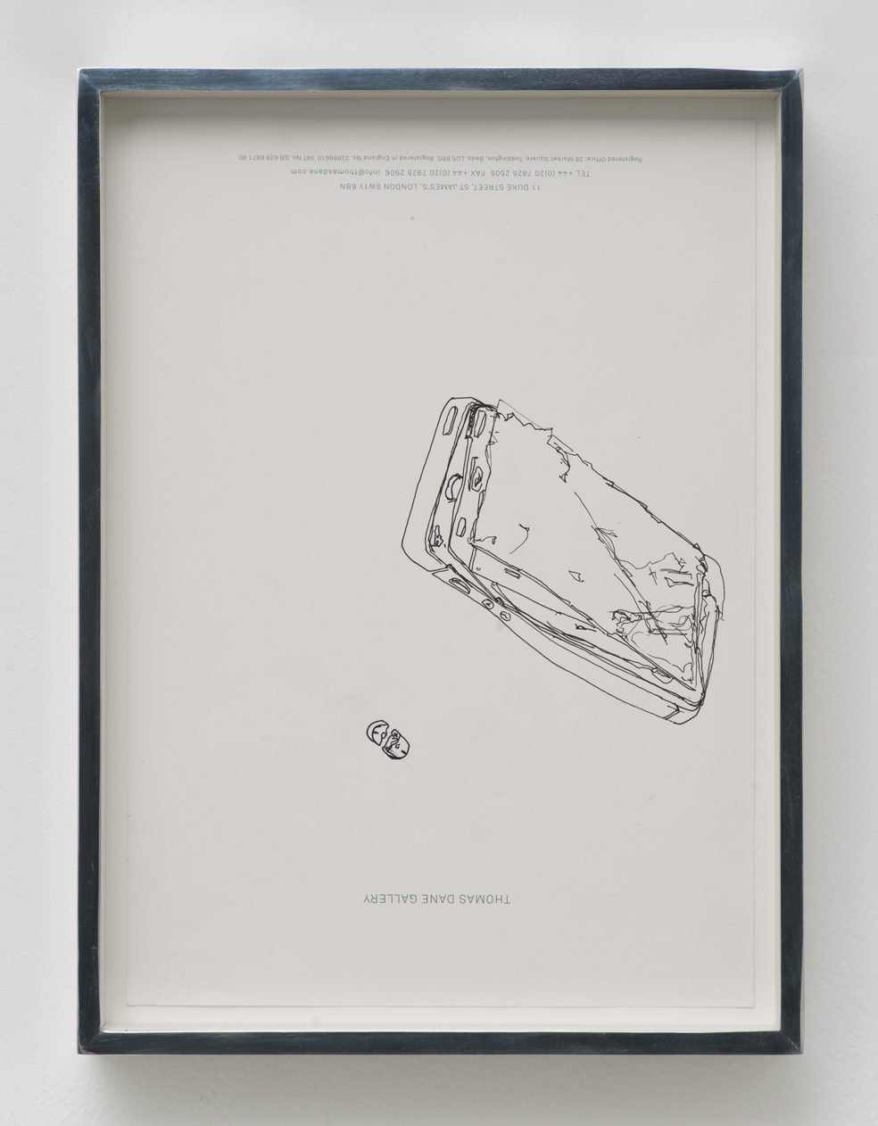 iPhone 5 A1429/Adderall, Amphetamine and Dextroamphetamine 10 mg, cor 132, Round, Multi-Segmented, Core Pharmaceuticals, Inc.: Thomas Dane Gallery, London, United Kingdom, September 27, 2014    2015   Ink on letterhead  12 7/8 x 9 1/2 inches   Walid AlBeshti, 2015