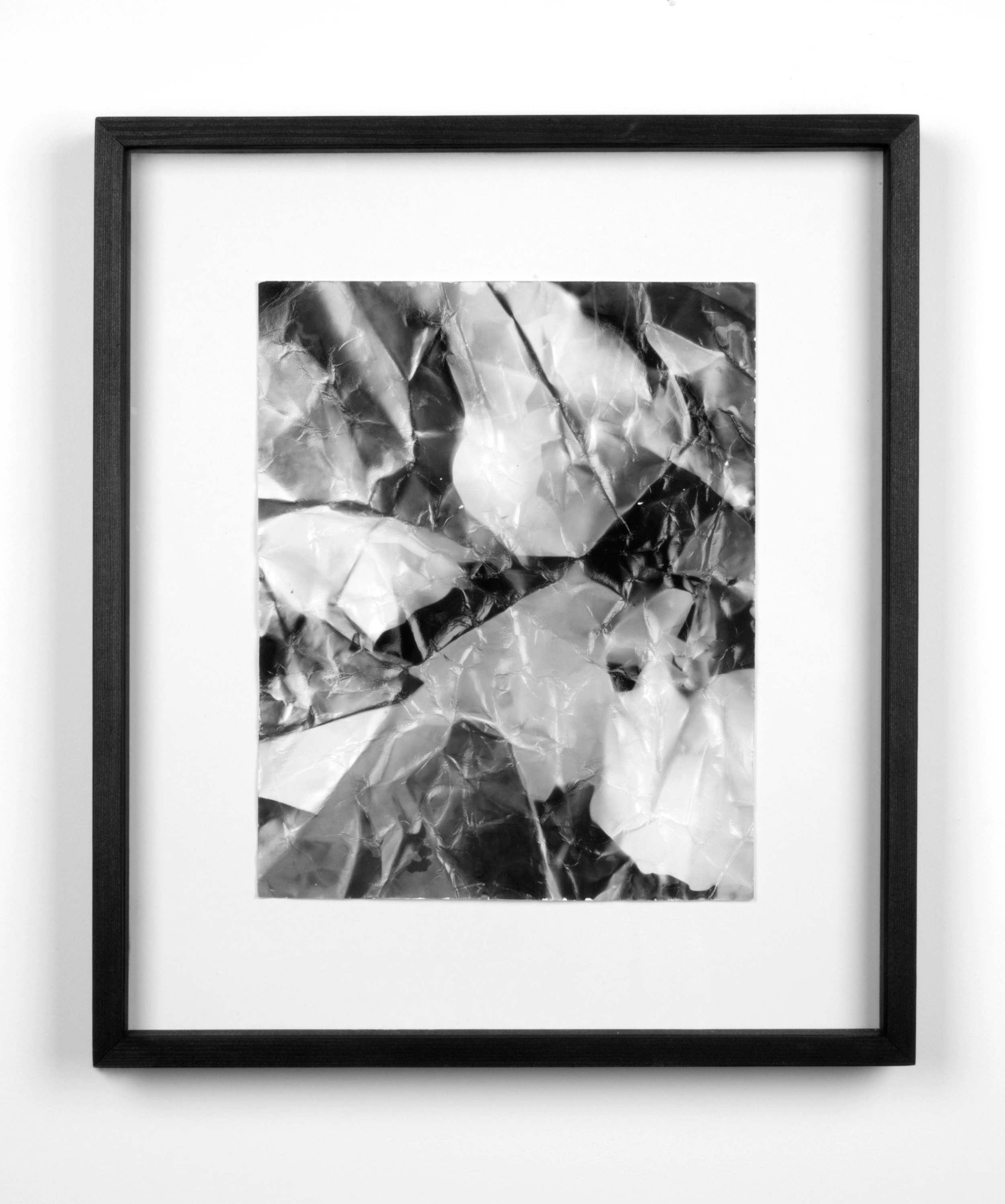 Picture Made by My Hand with the Assistance of Light    2011   Black and white fiber based photographic paper  14 7/8 x 12 7/8 inches   A Diagram of Forces, 2011