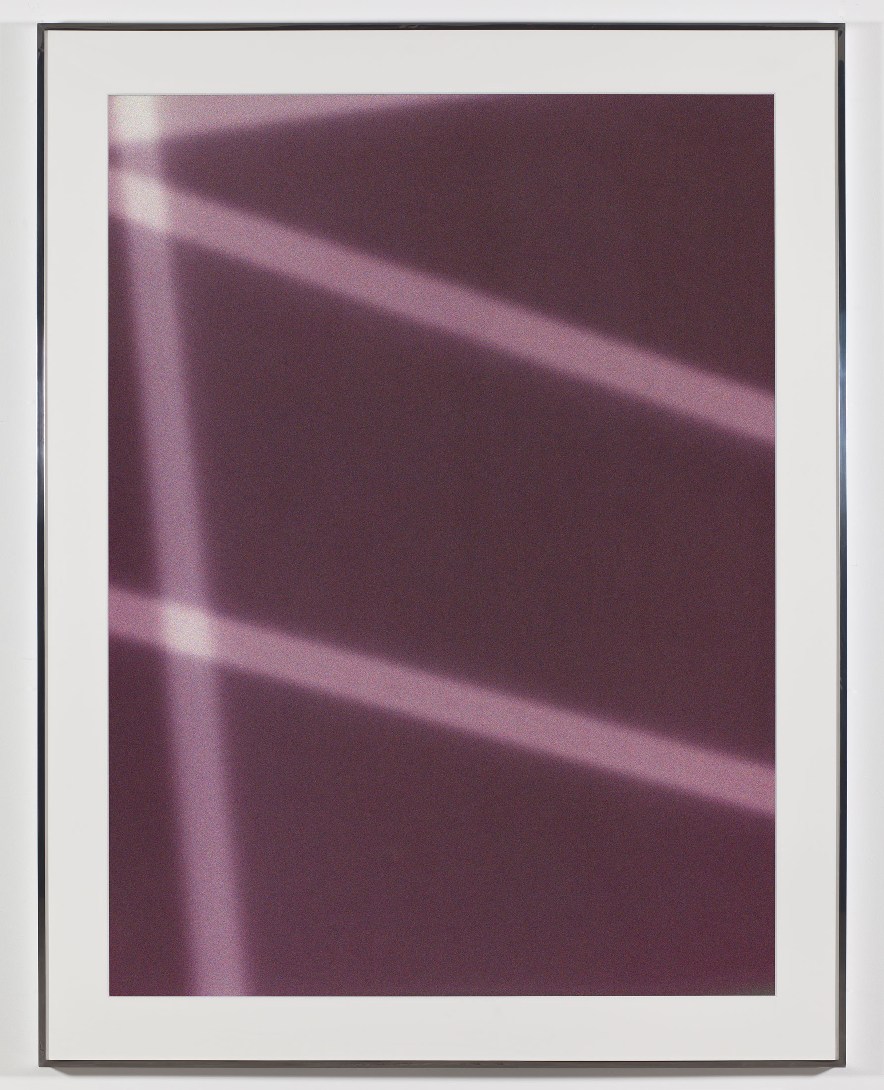 Transparency (Negative) [Kodak Portra 400NC Em. No. 2001: May 8–July 18, 2007 LAX/FRA FRA/JFK LGA/IAD IAD/ORD]    2009   Epson Ultrachrome K3 archival ink jet print on Museo Silver Rag Paper  68 x 52 1/4 inches   FIVE, 2009
