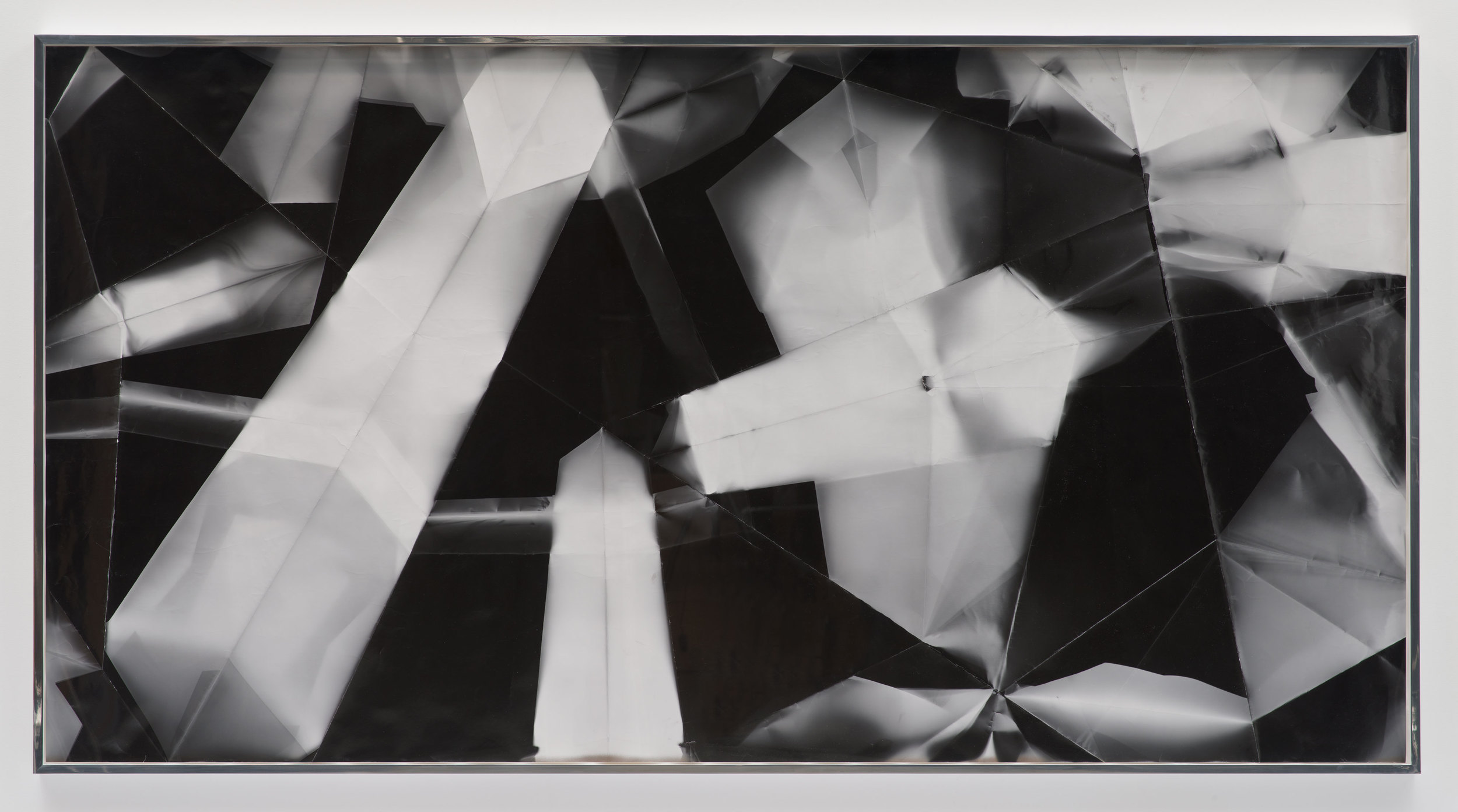 Fold (45º/135º/225º/315º directional light sources), December 31, 2012, Los Angeles, California, Ilford Multigrade IV MGF.1K    2012   Black and white fiber based photographic paper  55 x 108 inches