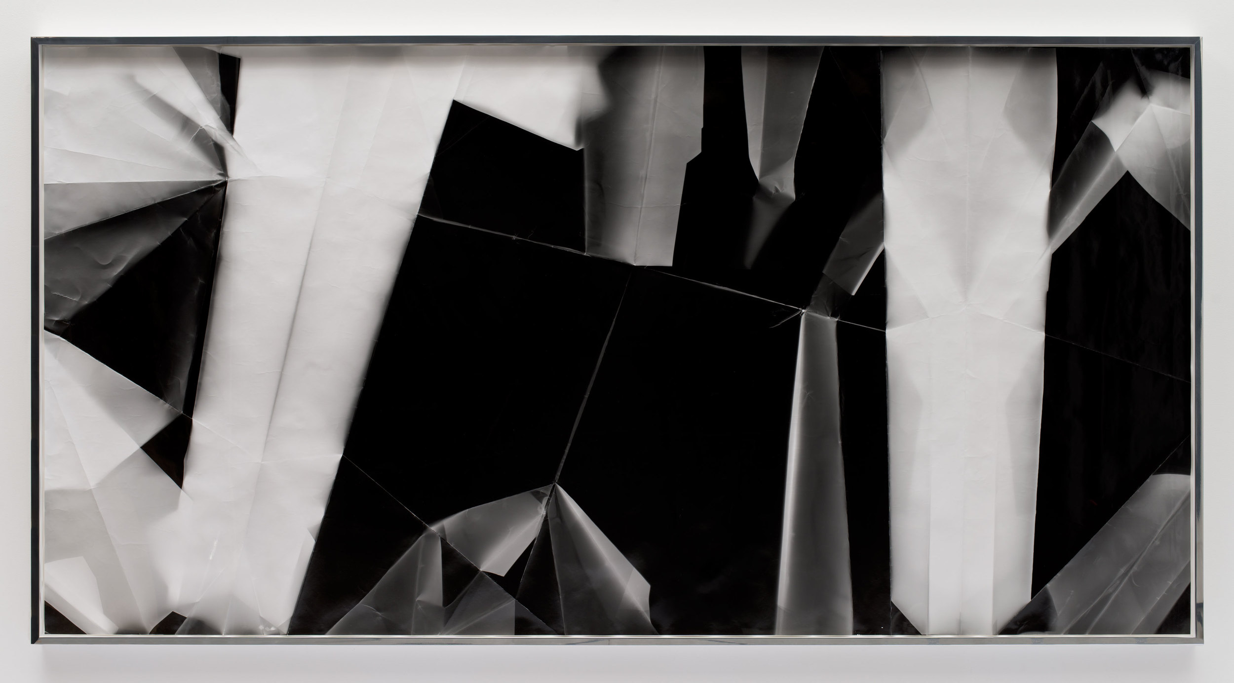 Fold (45º/135º/225º/315º directional light sources), December 31,2012, Los Angeles, California, Ilford Multigrade IV MGF.1K    2012   Black and white fiber based photographic paper  55 x 110 3/4 inches