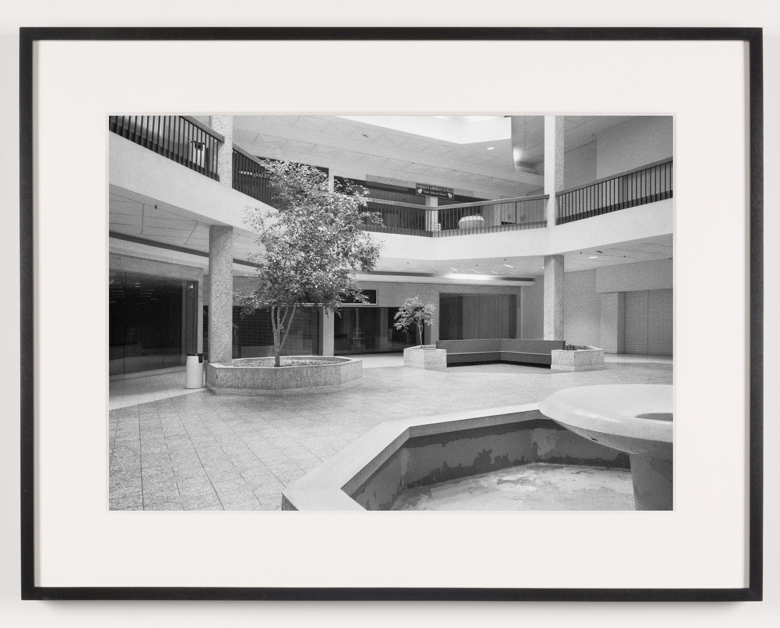 Randall Park Mall (View of Fountain, Seating Area), North Randall, OH, Est. 1976, Demo. 2014    2011   Epson Ultrachrome K3 archival ink jet print on Hahnemühle Photo Rag paper  21 5/8 x 28 1/8 inches   A Diagram of Forces, 2011