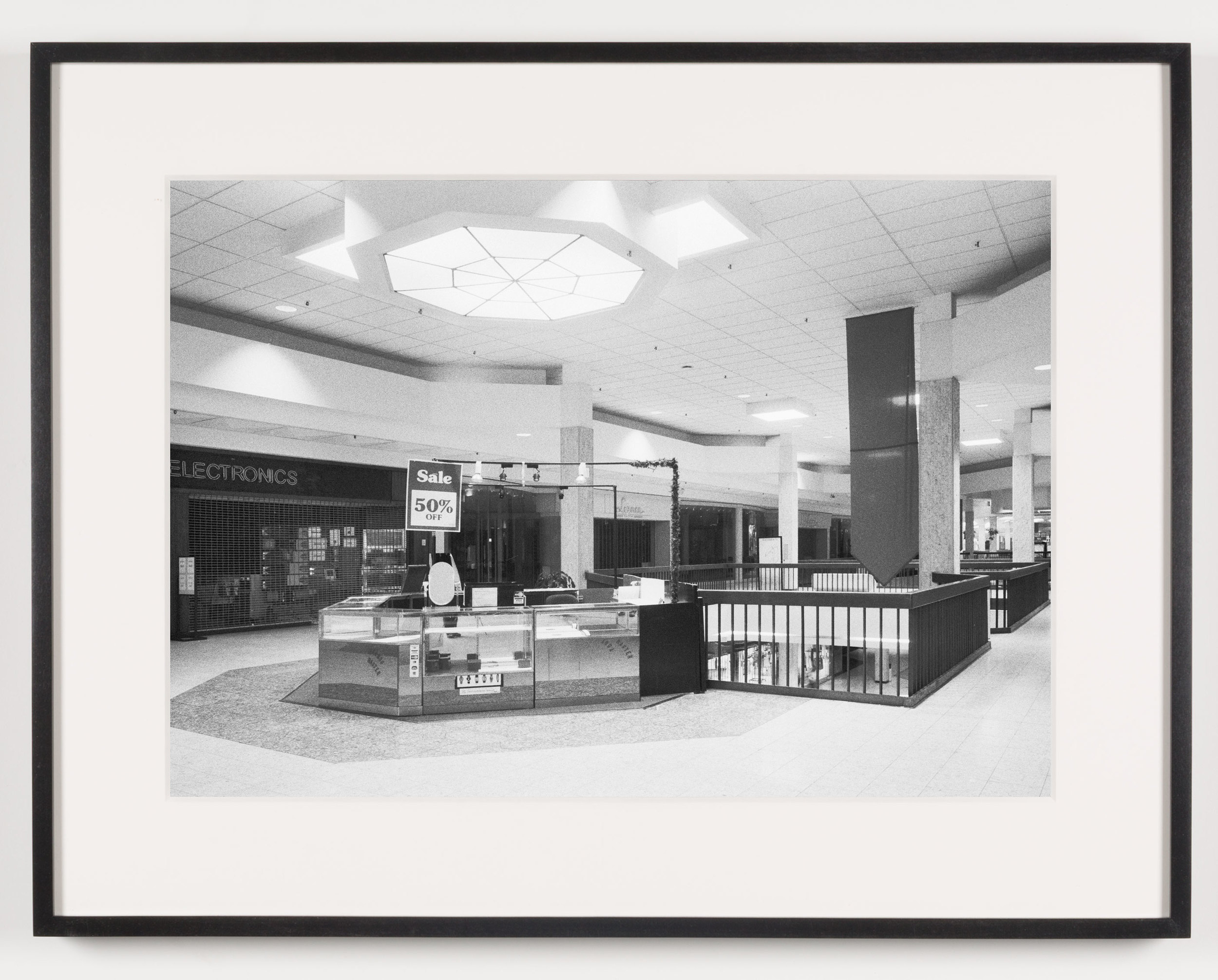 Randall Park Mall ('Electronics') North Randall, OH, Est. 1976, Demo. 2014    2011   Epson Ultrachrome K3 archival ink jet print on Hahnemühle Photo Rag paper  21 5/8 x 28 1/8 inches   A Diagram of Forces, 2011