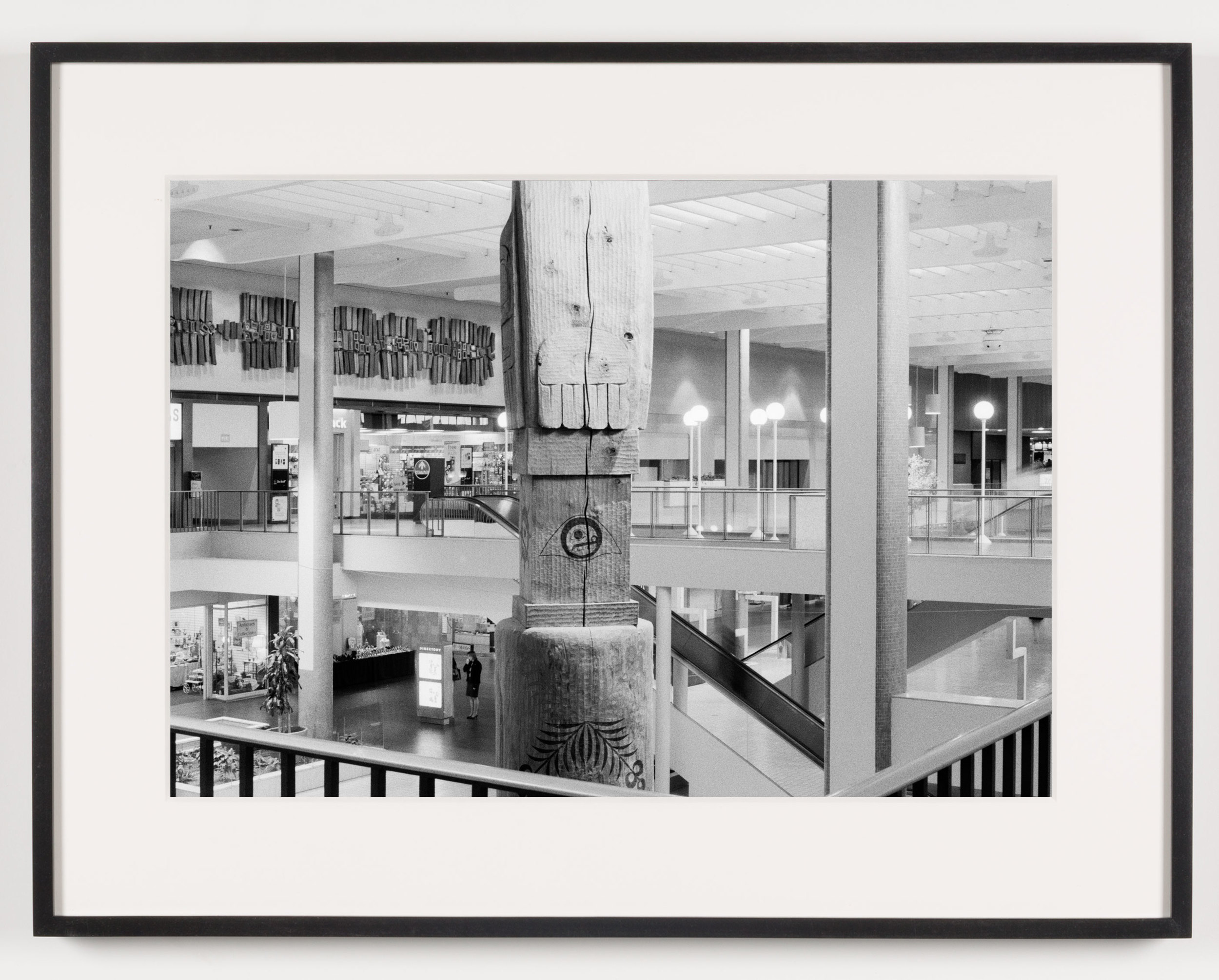 Midtown Plaza (View of Totem Pole, Back), Rochester, NY, Est. 1962, Demo. 2010    2011   Epson Ultrachrome K3 archival ink jet print on Hahnemühle Photo Rag paper  21 5/8 x 28 1/8 inches   A Diagram of Forces, 2011