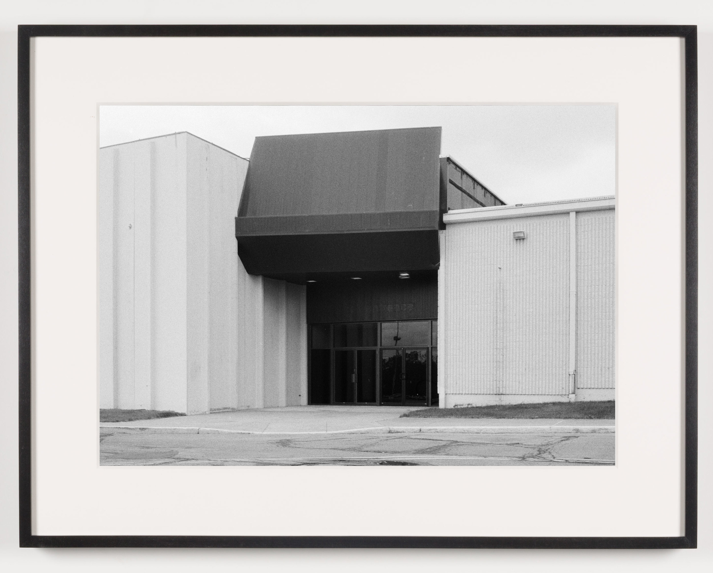 Midway Mall (View of Exterior), Elyria, OH, Est. 1965    2011   Epson Ultrachrome K3 archival ink jet print on Hahnemühle Photo Rag paper  21 5/8 x 28 1/8 inches   American Passages, 2001–2011