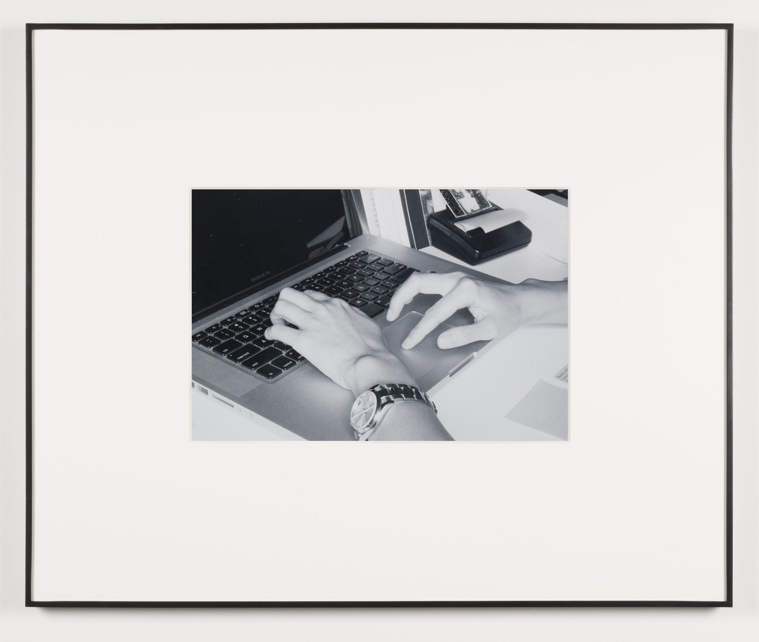 Der Spaßvogel (Los Angeles, California, August 30, 2011), Frame No. 18    2014   Black and white digital fiber print  13 1/2 x20 inches   Art Handling, 2011–