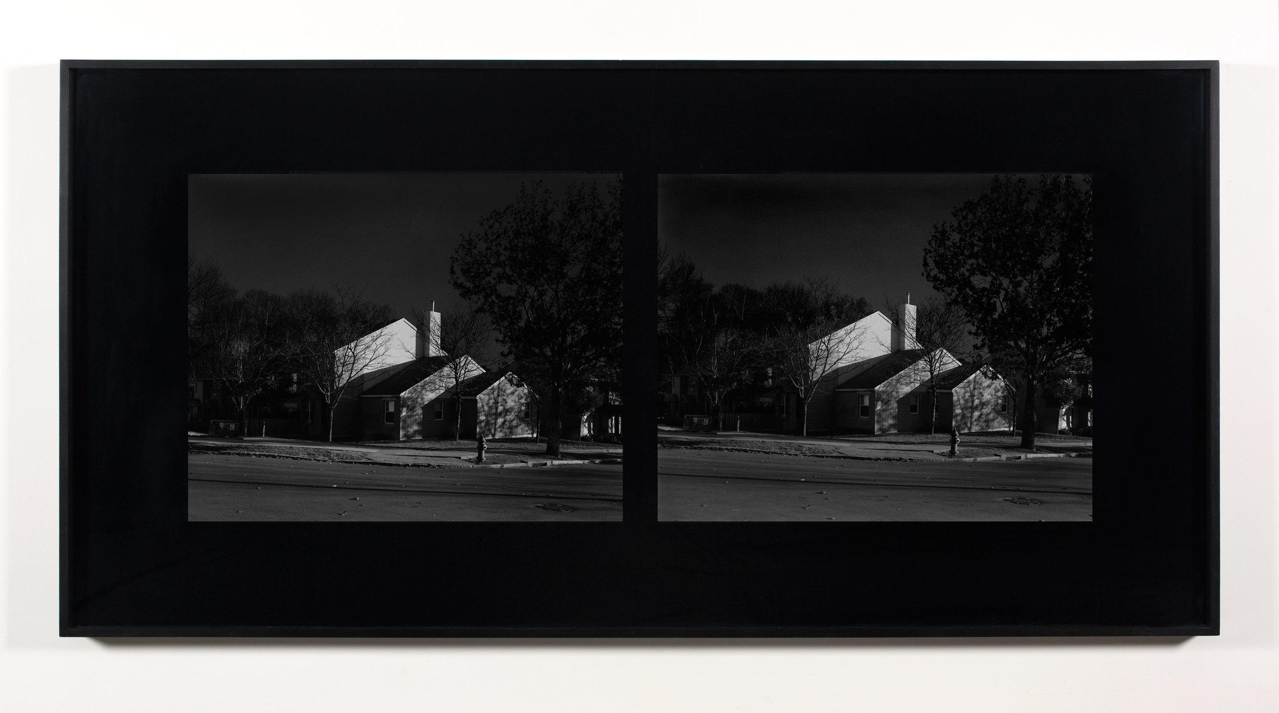 Excursionist Views (Oriental Gardens 1971, rebuilt 1983, cul-de-sac detail)    2001/2005   Chromogenic print  48 x 96 inches