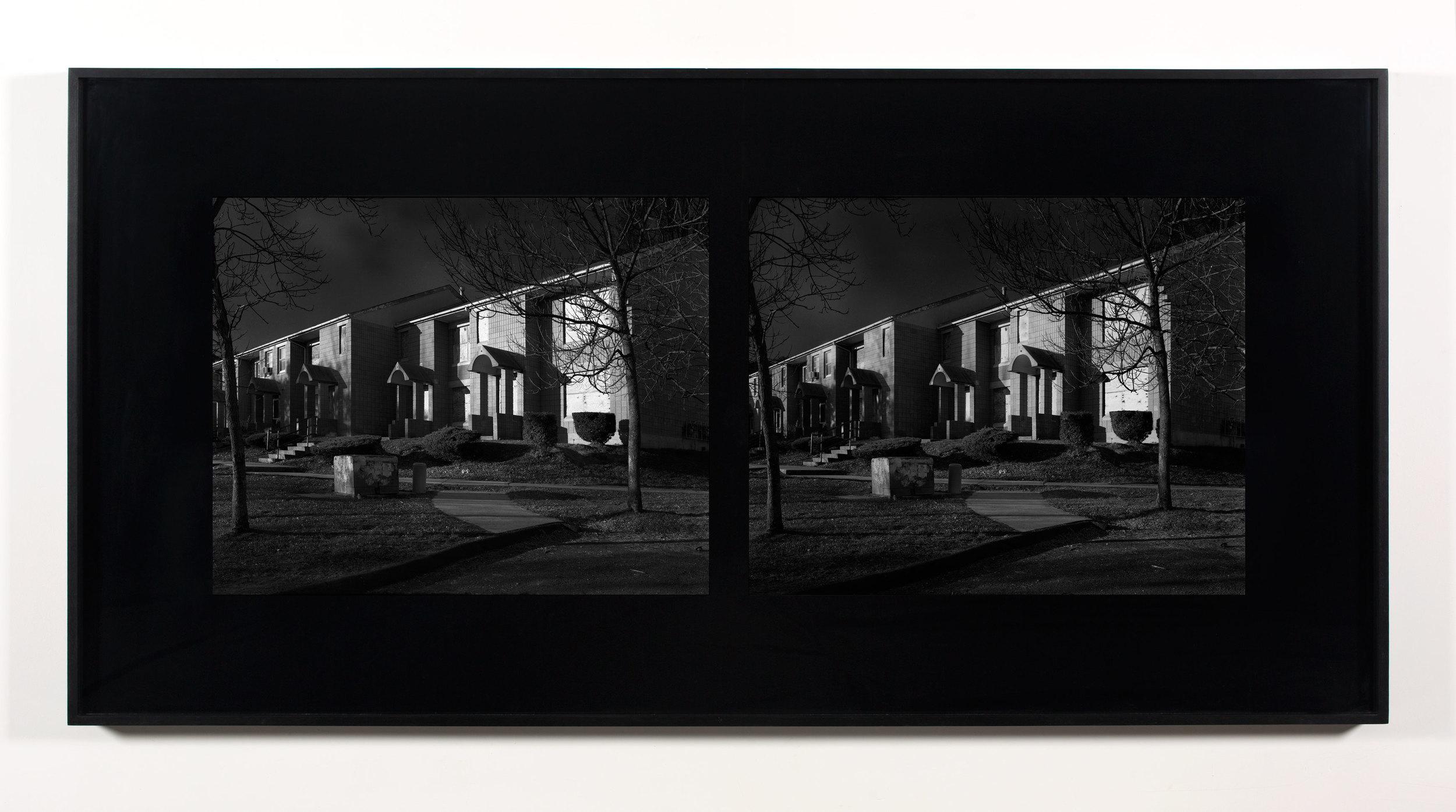 Excursionist Views (Oriental Gardens 1971, rebuilt 1983, street detail)    2001/2005   Chromogenic print  48 x 96 inches