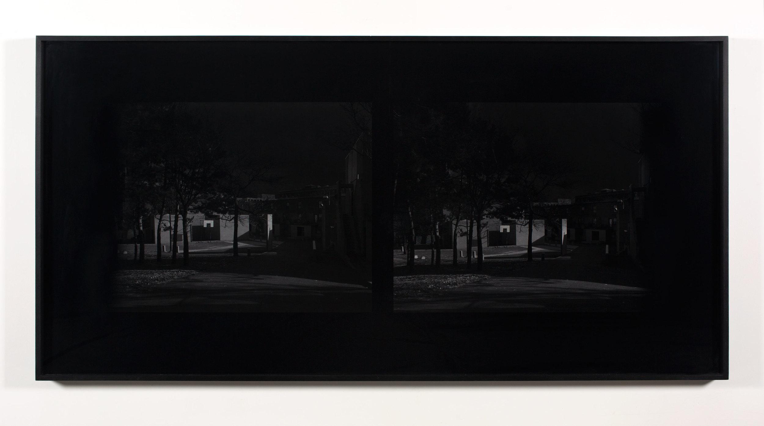 Excursionist Views (Church St. Housing, 1969, courtyard detail)    2001/2005   Chromogenic print  48 x 96 inches