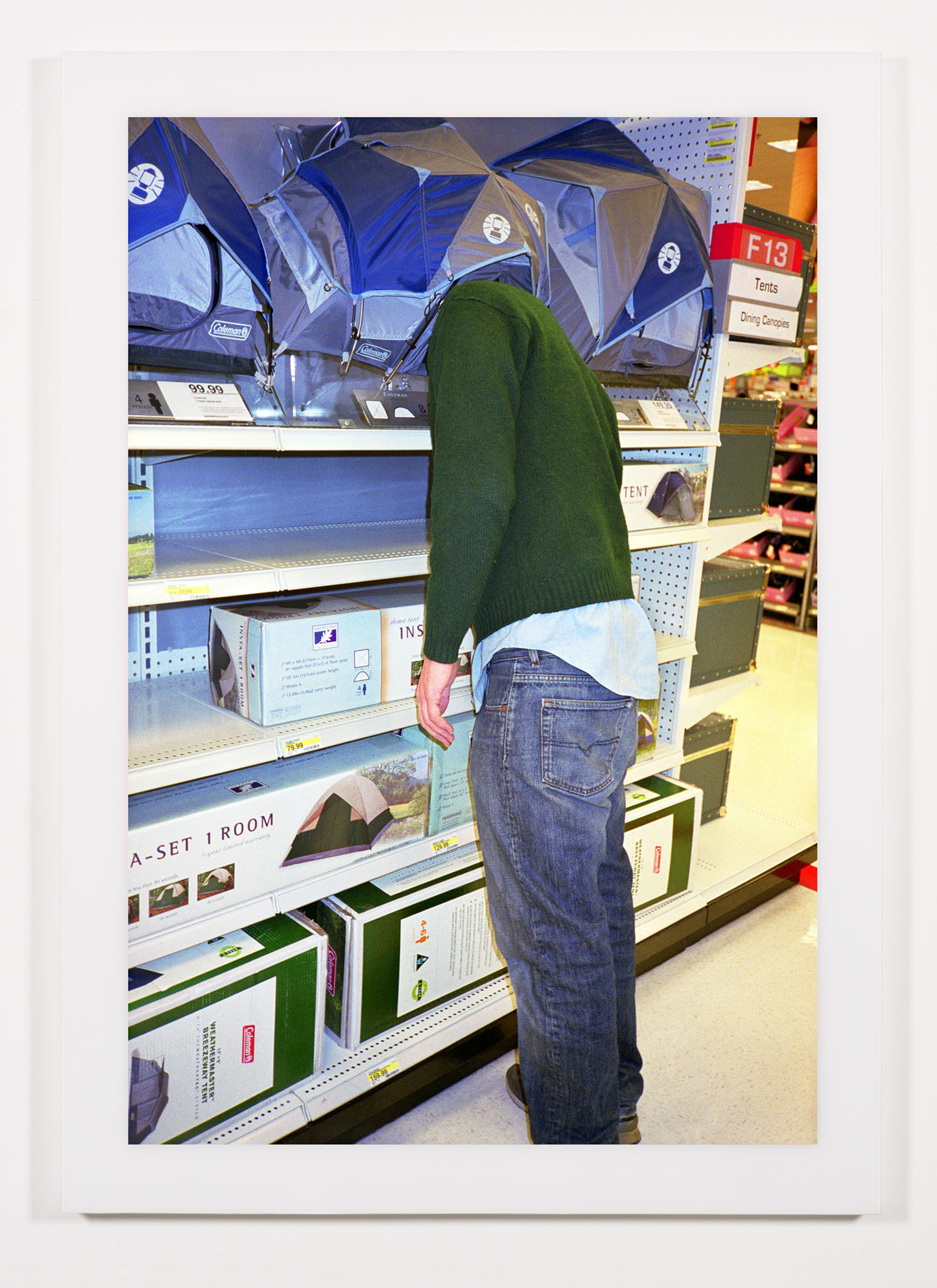 The Phenomenology of Shopping (Target, Dutchess County Mall, Kingston, NY)    2002   Chromogenic print  68 x 47 3/4 inches