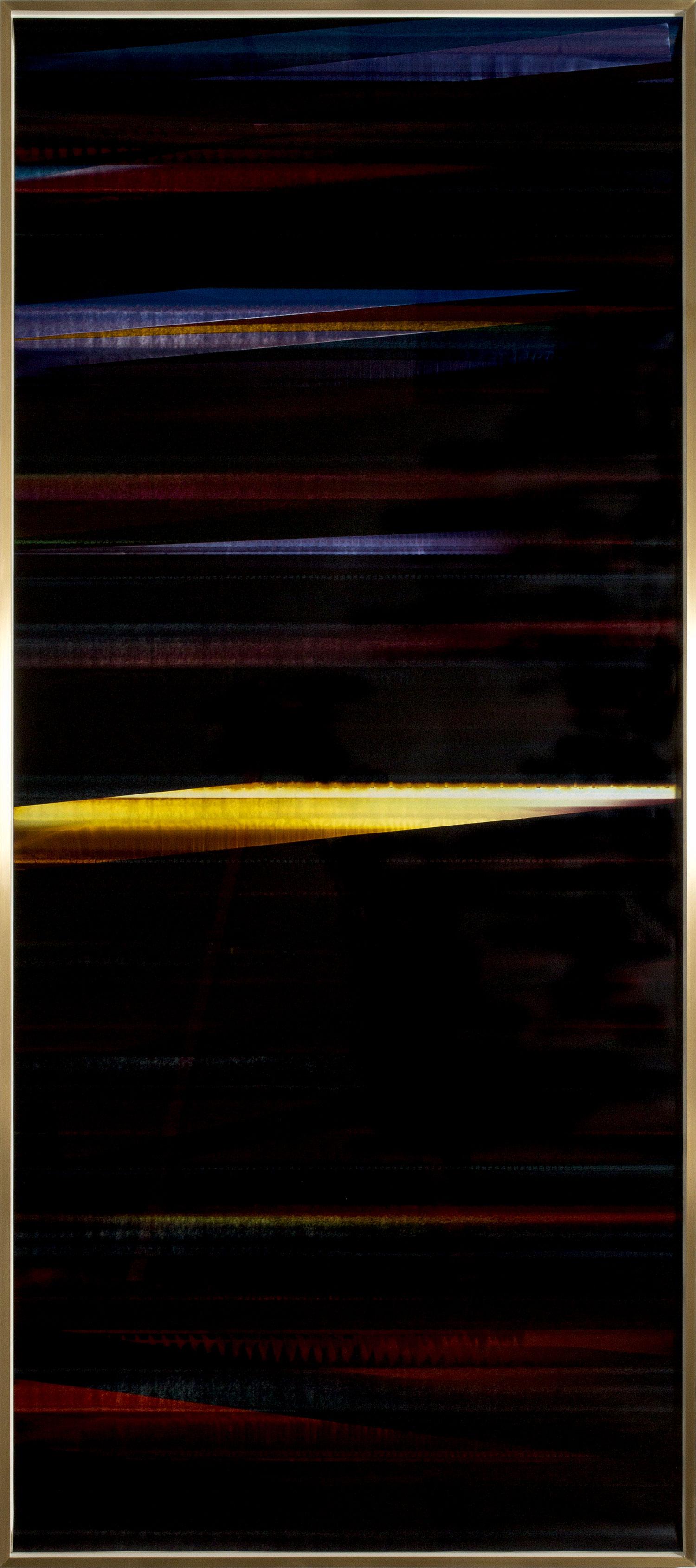 RA4 Contact Print / Processor Stall (YMC/Six Magnet: Los Angeles, California, September 12, 2014, Fujicolor Crystal Archive Super Type C, Em. No. 112-006, 100114), Kreonite KM IV 5225 RA4 Color Processor, Ser. No. 00092174    2016   Color photographic paper  120 1/4 x 51 1/2 inches   RA4 Contact Prints, 2014–