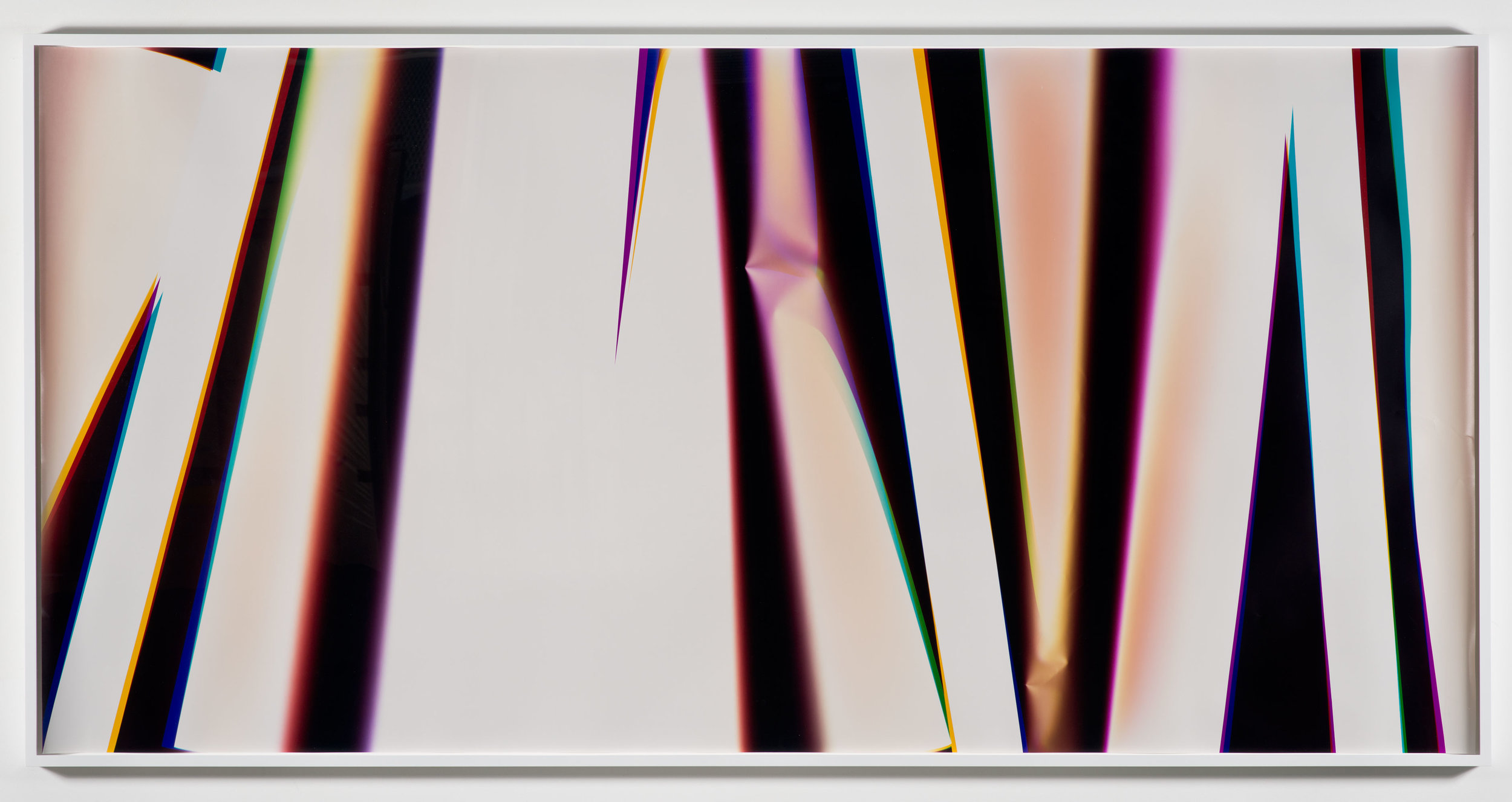 White Curl (YMC/Four Magnet: Los Angeles, California, February 28, 2013, Fuji Color Crystal Archive Super Type C, Em. No. 166-016, 05513)    2013   Color photographic paper  50 x 103 1/2 inches
