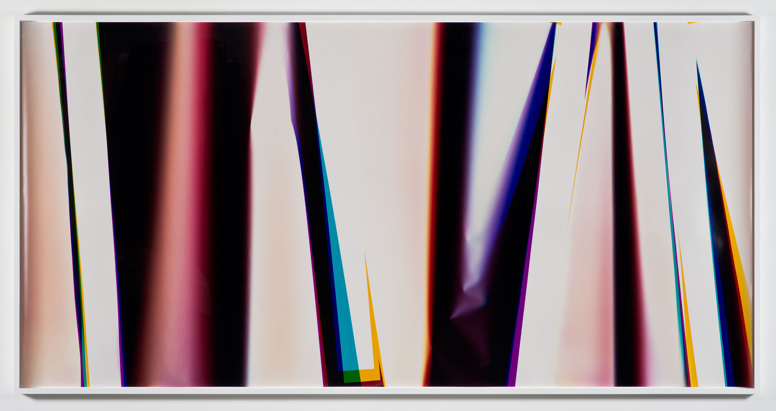 White Curl (YMC/Four Magnet: Los Angeles, California, February 28, 2013, Fuji Color Crystal Archive Super Type C, Em. No. 166-016, 06713)    2013   Color photographic paper  50 x 102 inches