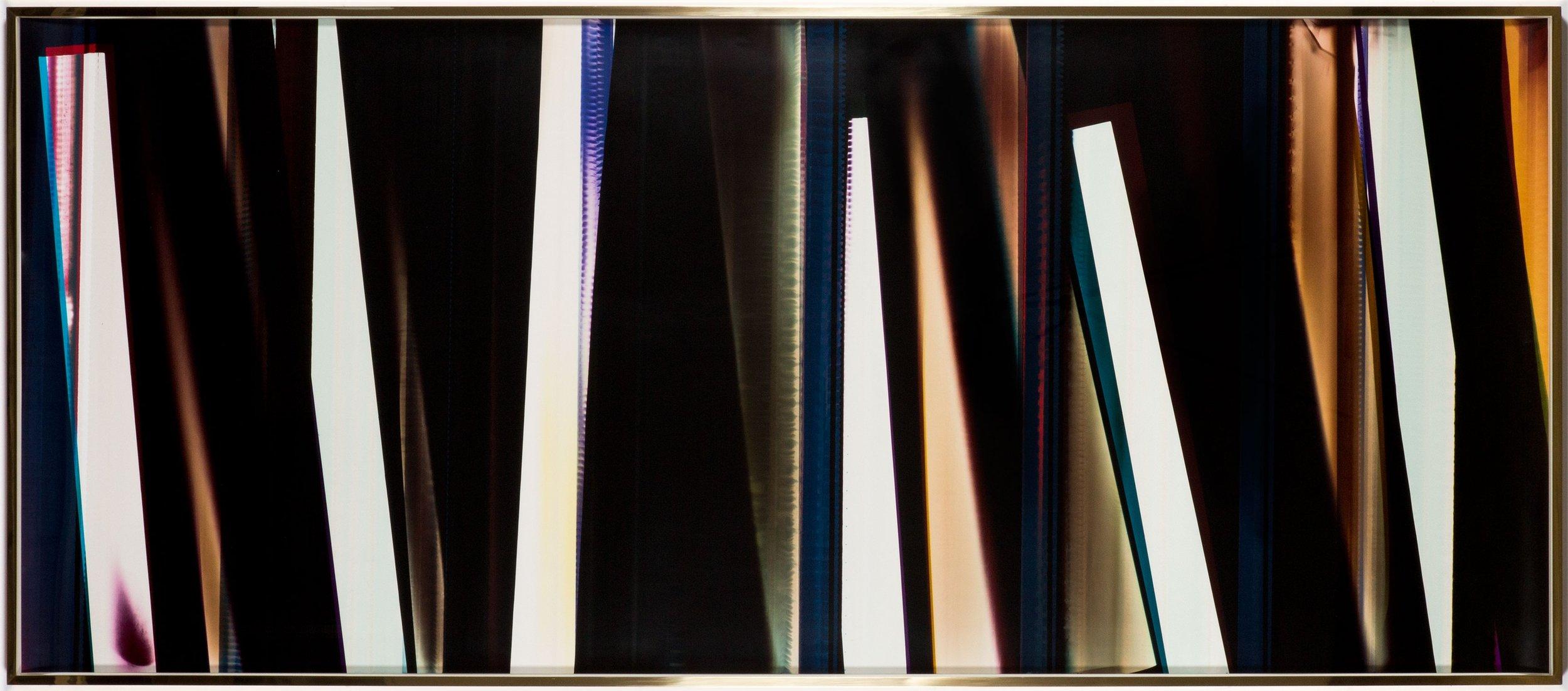 RA4 Contact Print / Processor Stall [Black Curl (9:6/MYC/Six Magnet: Los Angeles, California, July 15, 2014, Fuji Color Crystal Archive Super Type C, Em. No. 107-116, 75414), Kreonite KM IV 5225 RA4 Color Processor, Ser. No. 00092174] , 2016