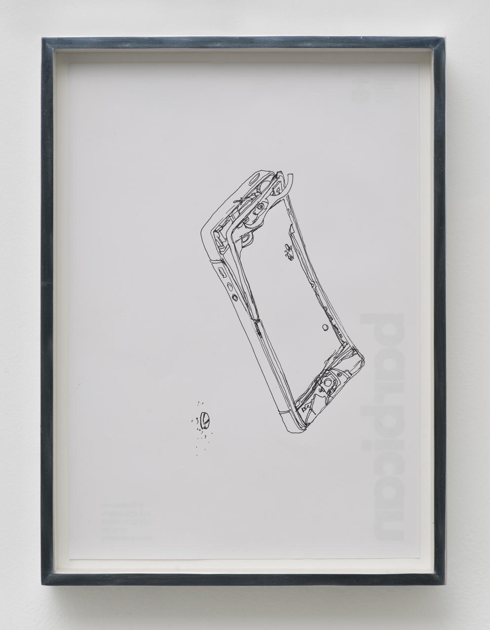 iPhone 5 A1429/Adderall, Amphetamine and Dextroamphetamine 10 mg, cor 132, Round, Multi-Segmented, Core Pharmaceuticals, Inc.: Barbican Centre, London, United Kingdom, October 10, 2014   2015  Ink on letterhead  12 7/8 x 9 1/2 inches   Drawings, 2014–    Walid AlBeshti, 2015    Atopolis, 2015