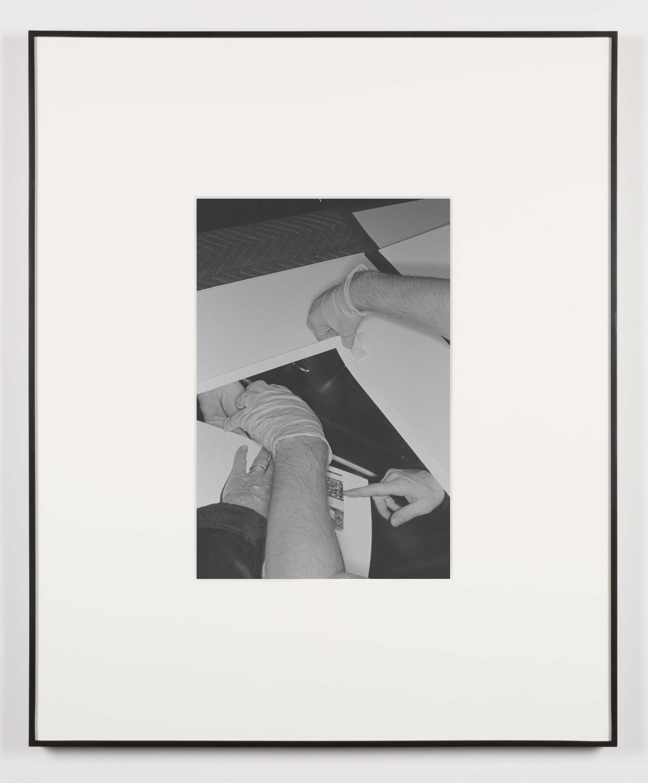 Die Qual der Lust (Los Angeles, California, August 15, 2013), Frame No. 14   2014  Black and white digital fiber print  20 x 13 1/2 inches   Art Handling, 2011–    Selected Bodies of Work, 2014