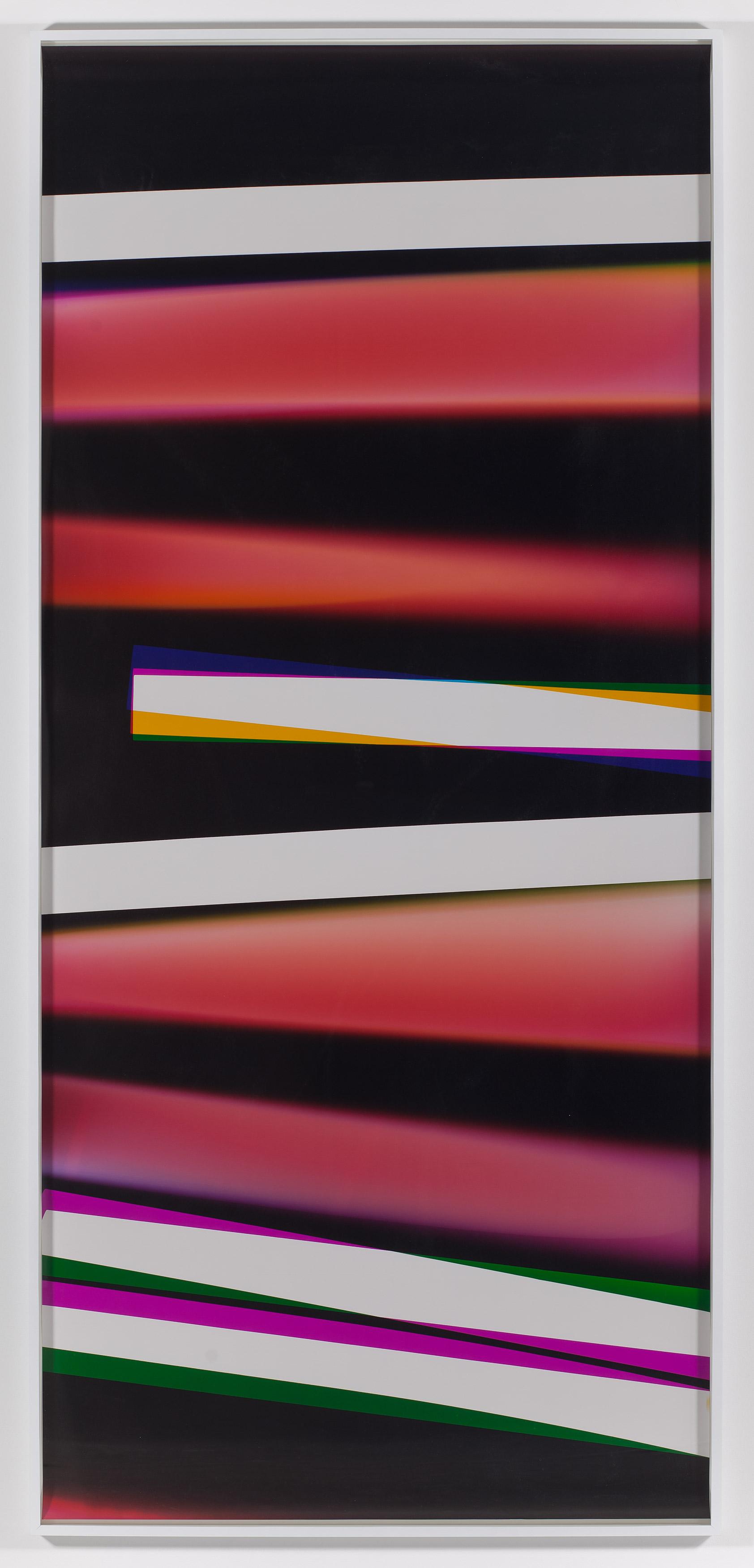 Black Curl (CMY/Five Magnet: Irvine, California, March 26,2010, Fujicolor Crystal Archive Super Type C, Em. No. 165-021, 06310)   2011  Color photographic paper  50 x 111 inches   Black Curls, 2010–2013    PROCESSCOLORFIELDS, 2011