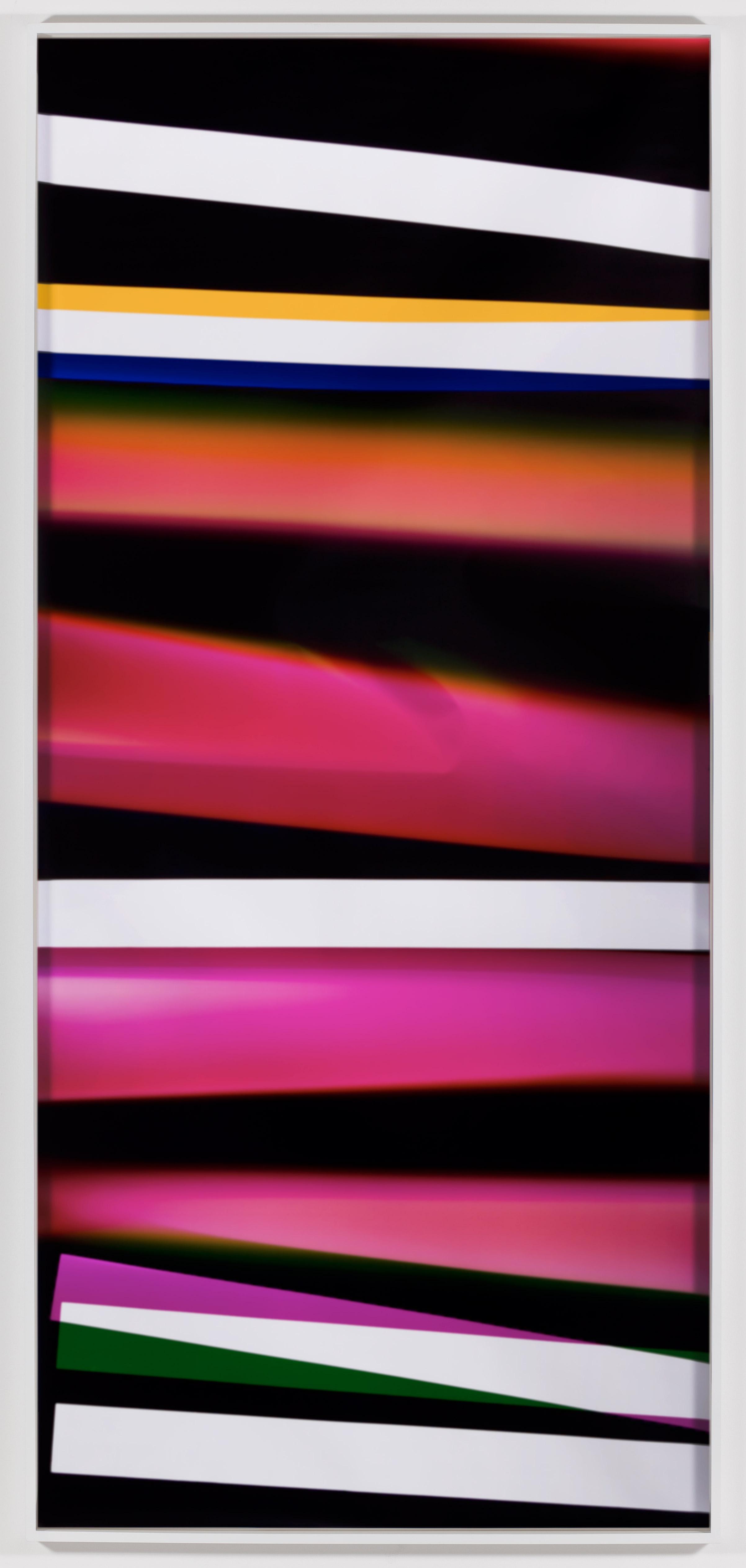 Black Curl (CMY/Five Magnet: Irvine, California, March 26,2010, Fujicolor Crystal Archive Super Type C, Em. No. 165-021, 06910)   2011  Color photographic paper  111 x 50 inches   Black Curls, 2010–2013    PROCESSCOLORFIELDS, 2011