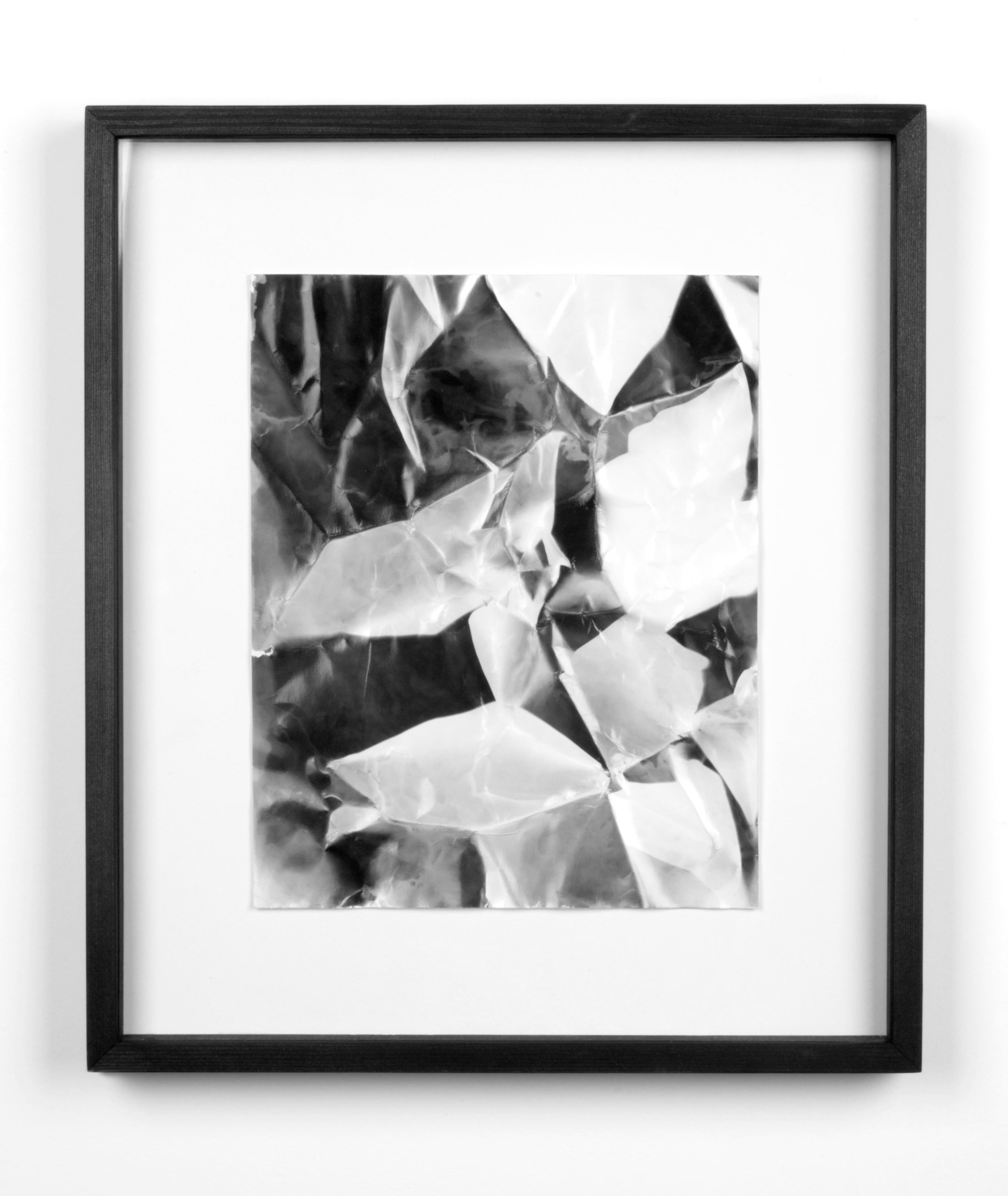 Picture Made by My Hand with the Assistance of Light   2011  Black and white fiber based photographic paper  14 7/8 x 12 7/8 inches   Pictures Made by My Hand with the Assistance of Light, 2005–2014    A Diagram of Forces, 2011