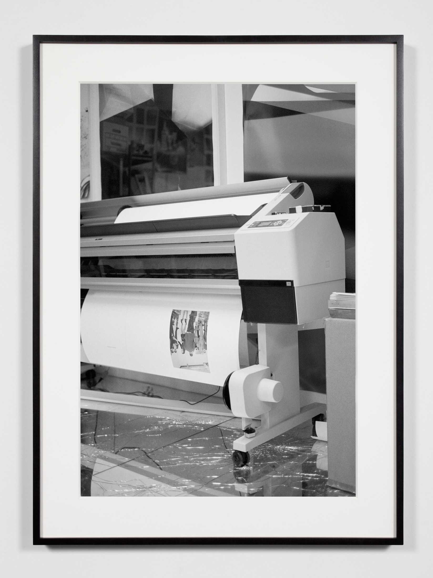 Artist Studio, Wide-Format Inkjet Printer, Los Angeles, California, December 9, 2010    2011   Epson Ultrachrome K3 archival ink jet print on Hahnemühle Photo Rag paper  36 3/8 x 26 3/8 inches   A Diagram of Forces, 2011