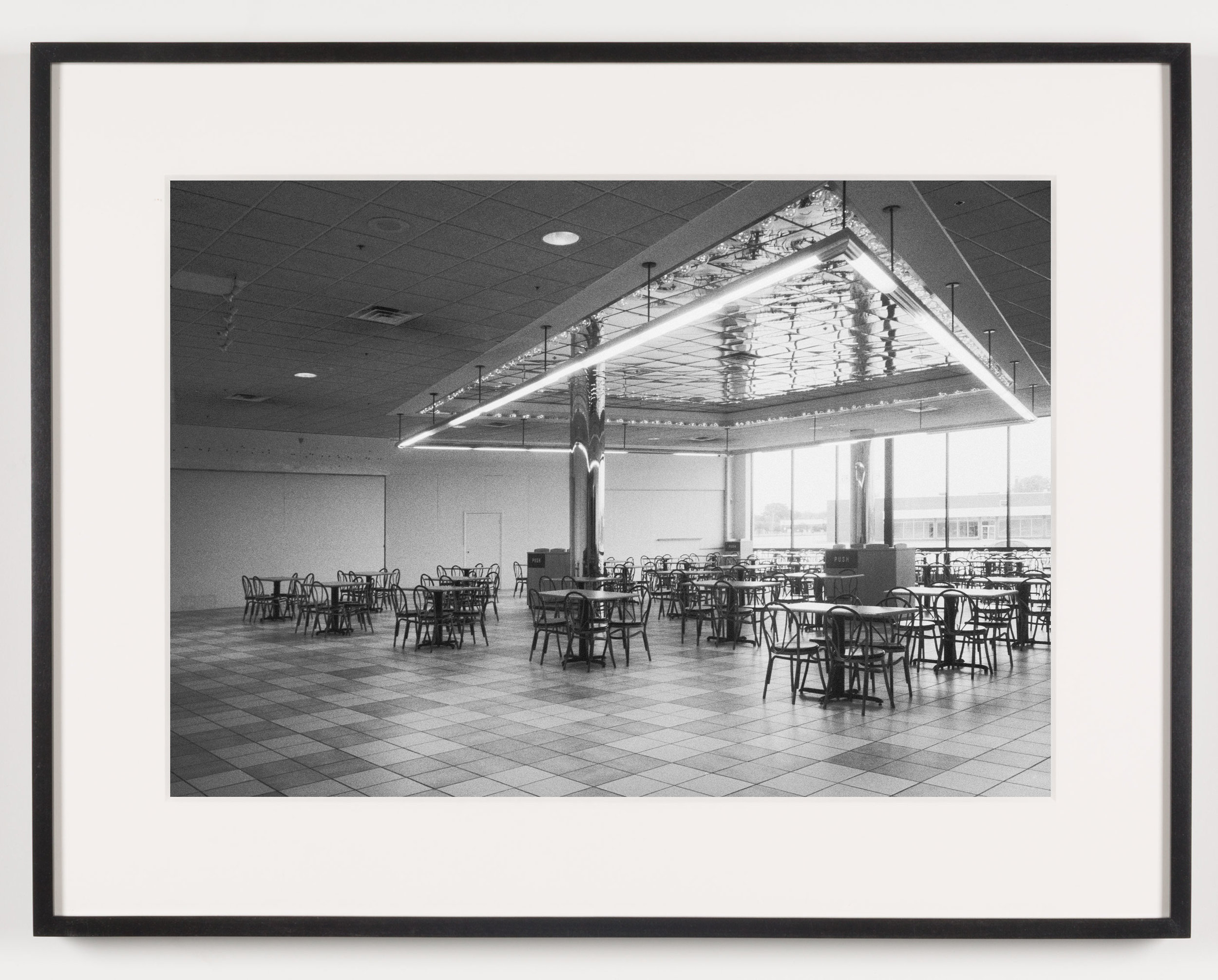 Southwyck Mall (View of Food Court), Toledo, OH, Est. 1972, Demo. 2009   2011  Epson Ultrachrome K3 archival ink jet print on Hahnemühle Photo Rag paper  21 5/8 x 28 1/8 inches   American Passages, 2001–2011    A Diagram of Forces, 2011