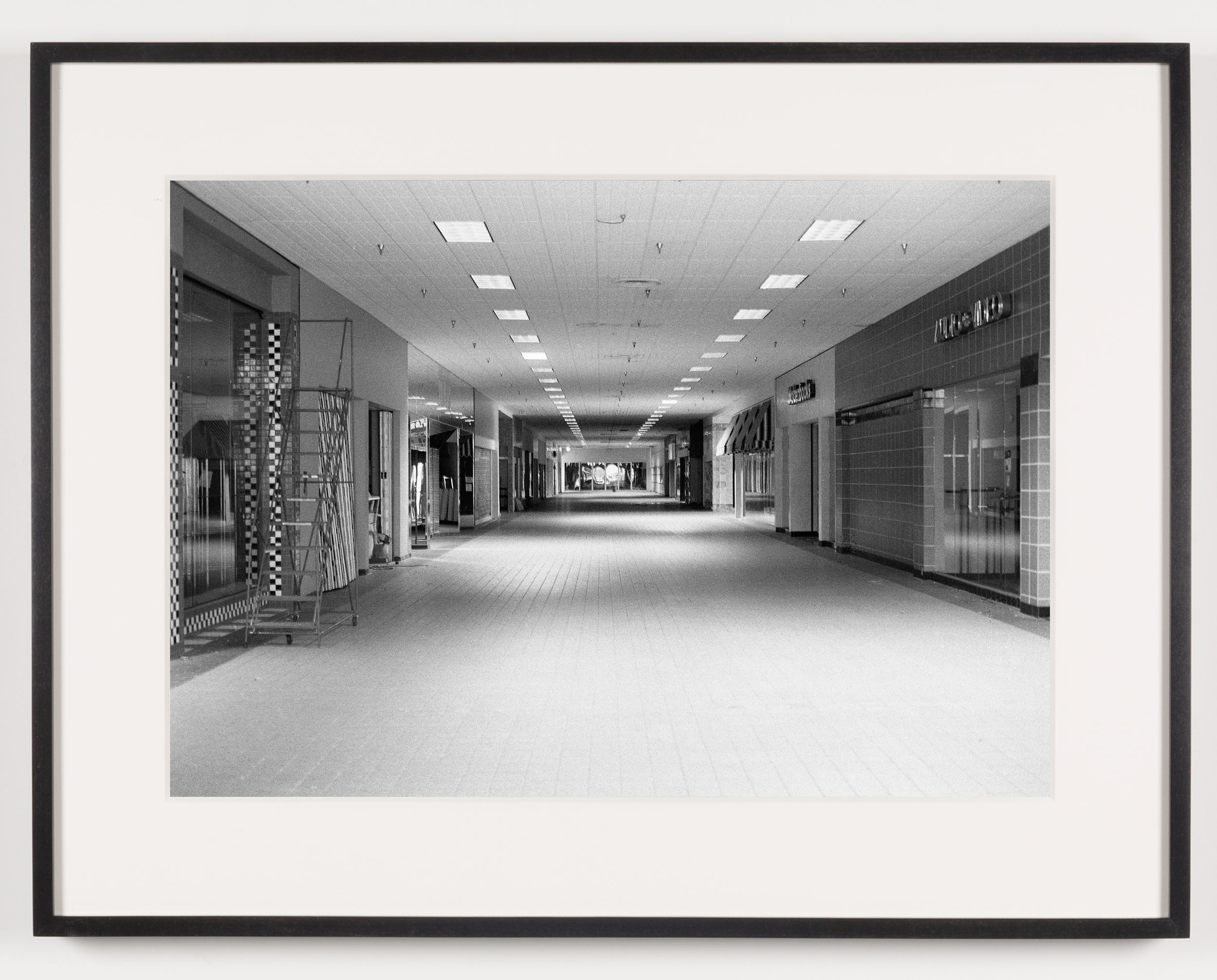 Lockport Mall (View of Interior), Lockport, NY, Est. 1971, Demo. 2011   2011  Epson Ultrachrome K3 archival ink jet print on Hahnemühle Photo Rag paper  21 5/8 x 28 1/8 inches   American Passages, 2001–2011    A Diagram of Forces, 2011