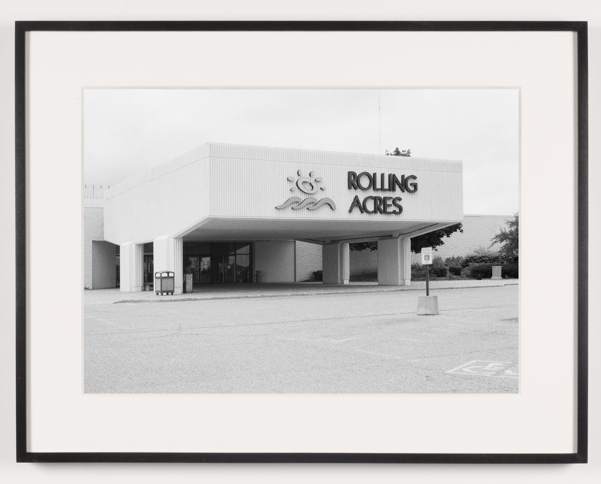 Rolling Acres Mall (View of Main Entrance) Akron, OH, Est. 1975   2011  Epson Ultrachrome K3 archival ink jet print on Hahnemühle Photo Rag paper  21 5/8 x 28 1/8 inches   American Passages, 2001–2011    A Diagram of Forces, 2011