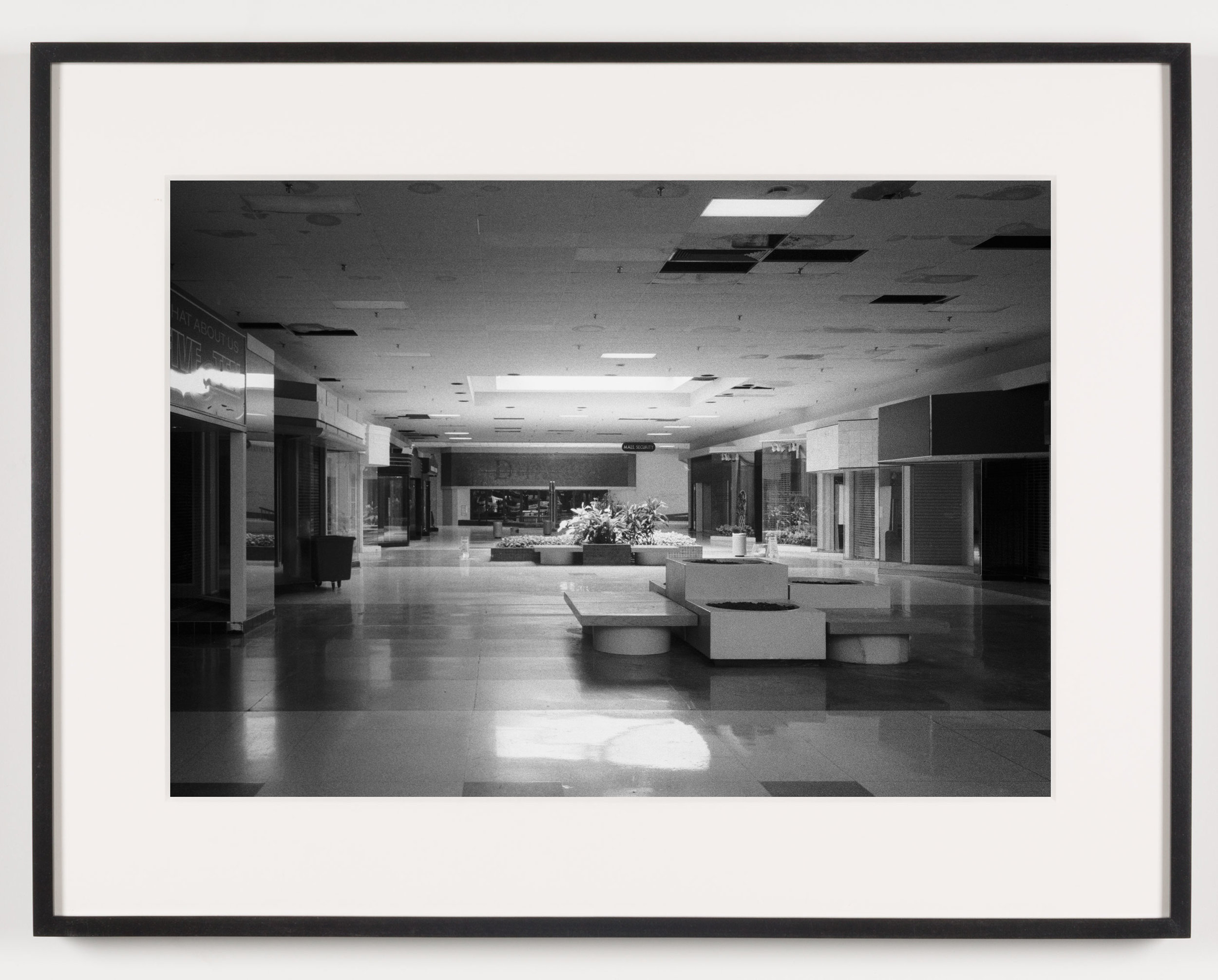 Rolling Acres Mall ('Dillards') Akron, OH, Est. 1975   2011  Epson Ultrachrome K3 archival ink jet print on Hahnemühle Photo Rag paper  21 5/8 x 28 1/8 inches   American Passages, 2001–2011    A Diagram of Forces, 2011