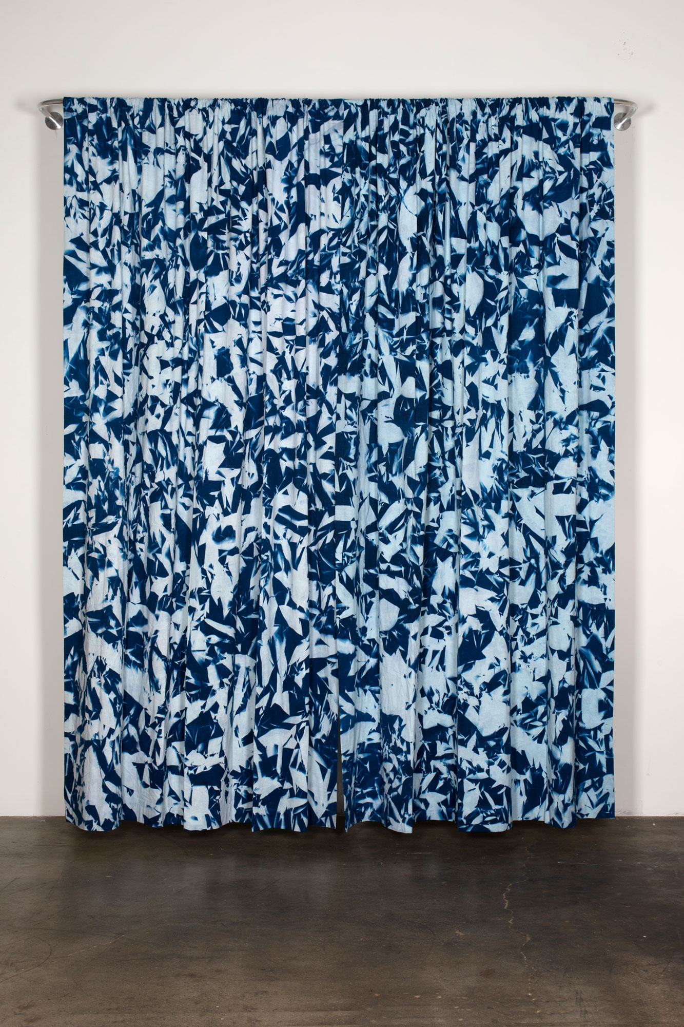 Untitled   2016  Cyanotype on linen  Dimensions variable   Cyanotypes, 2009–