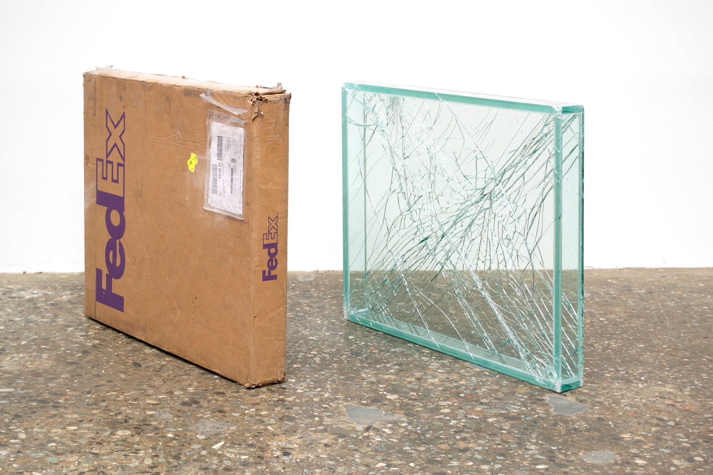 FedEx® Medium Framed Art Box ©2011 FedEx 163095 REV 7/11 Standard Overnight, Los Angeles–New York trk#798452111018, May 30–31, 2012, Standard Overnight, New York–Los Angeles trk#793621540796, May 31–June 1, 2012,  2012–