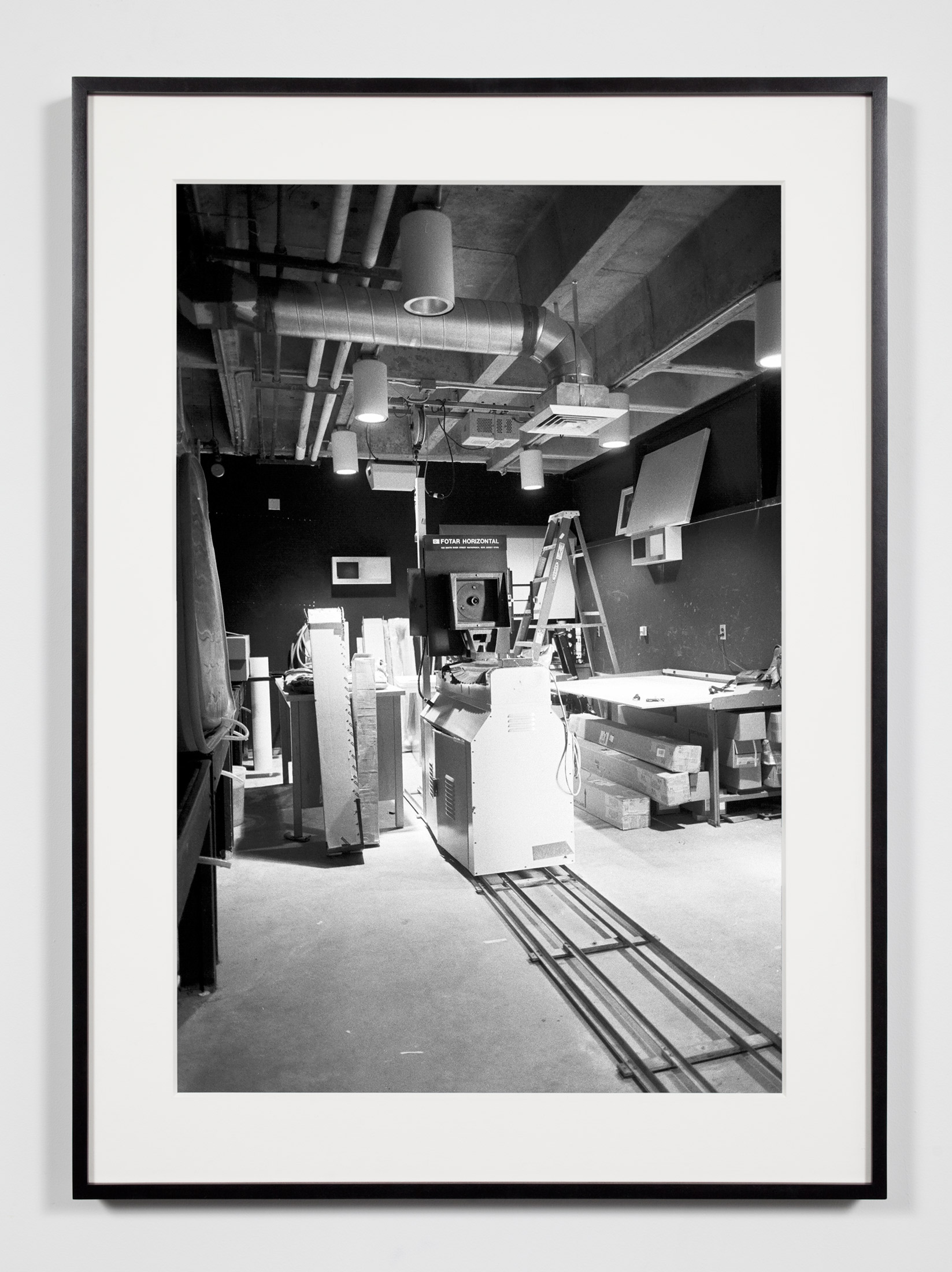 University Darkroom, 8 x 10 Horizontal Enlarger, Irvine, California, July 18, 2008    2011   Epson Ultrachrome K3 archival ink jet print on Hahnemühle Photo Rag paper  36 3/8 x 26 3/8 inches   A Diagram of Forces, 2011