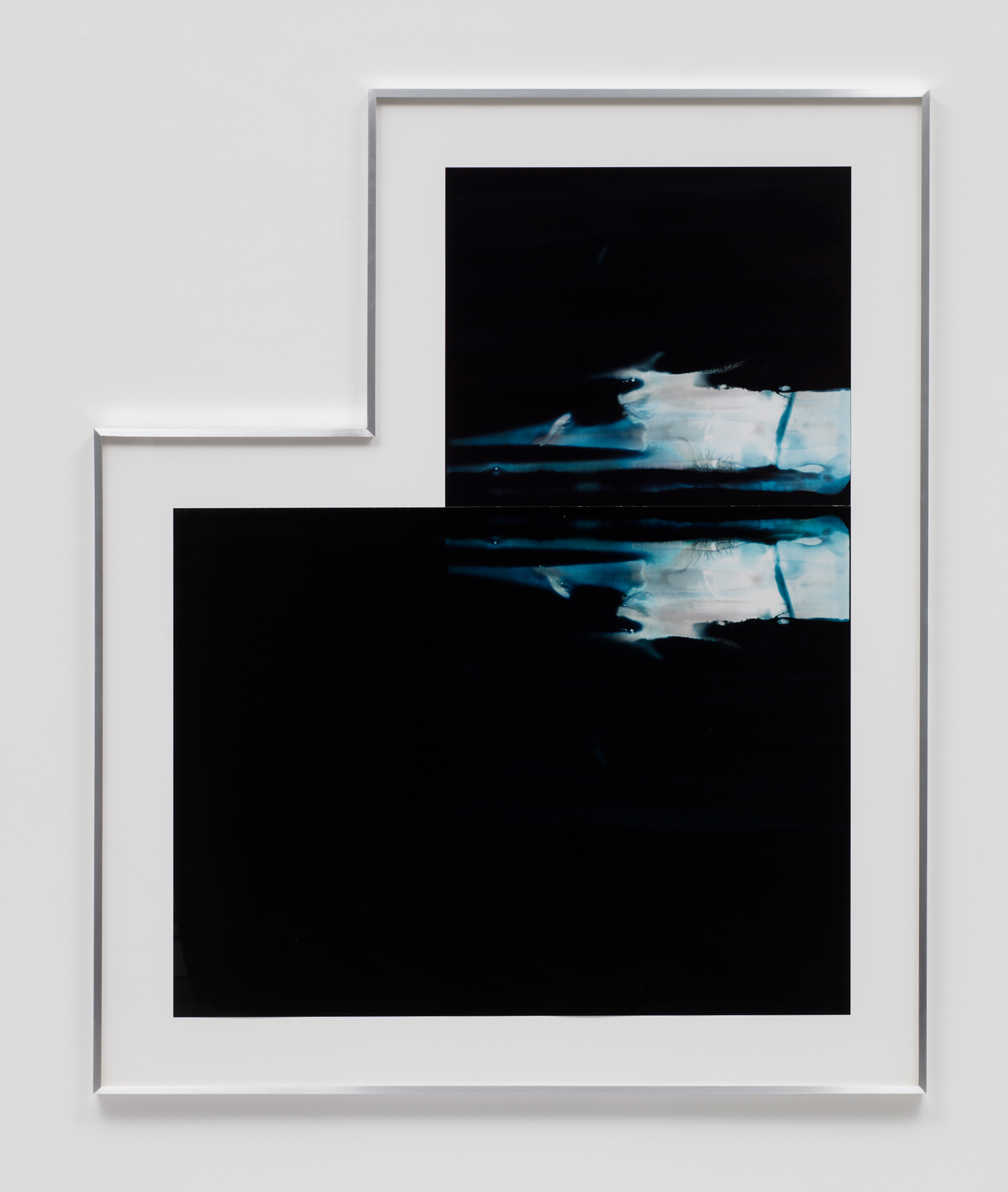 Asymmetrical Inverted RA4 Contact Print / Processor Stall (CMY: Los Angeles, California, January 17, 2018; Fujicolor Crystal Archive Super Type C, Em. No. 159-016 / Fujicolor Crystal Archive Super Type II, Em. No. 859809B217; Kodak Ektacolor RA Bleach-Fix and Replenisher; Kreonite KM IV 5225 RA4 Color Processor, Ser. No. 00092174; 01618)   2018  Color photographic paper  59 1/4 x 49 1/2 inches   Equivalents, 2018