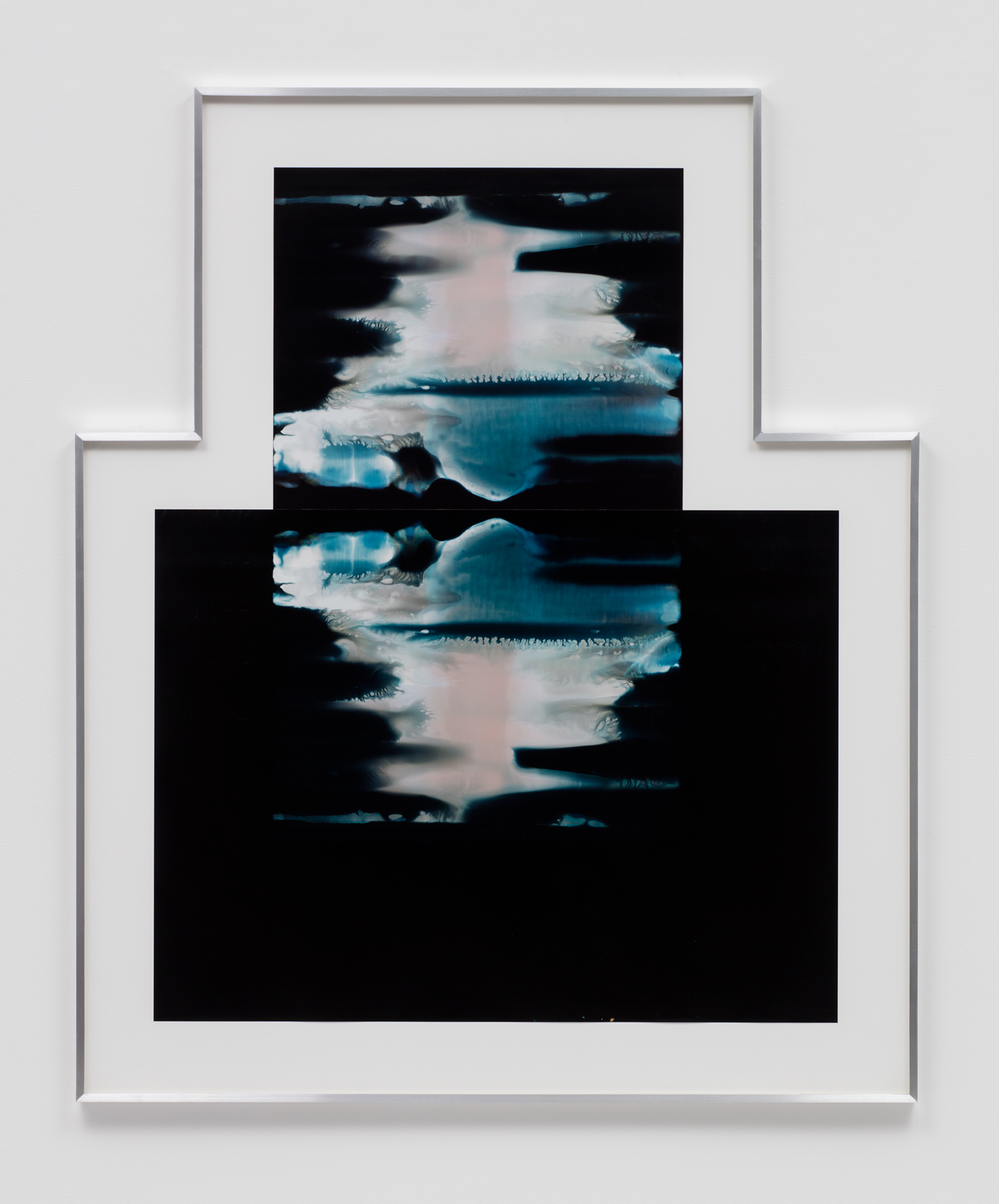 Asymmetrical Inverted RA4 Contact Print / Processor Stall (YMC: Los Angeles, California, January 29, 2018; Fujicolor Crystal Archive Super Type C, Em. No. 159-016 / Fujicolor Crystal Archive Super Type II, Em. No. 859809B217; Kodak Ektacolor RA Bleach-Fix and Replenisher; Kreonite KM IV 5225 RA4 Color Processor, Ser. No. 00092174; 02718)   2018  Color photographic paper  59 1/8 x 49 inches   Equivalents, 2018