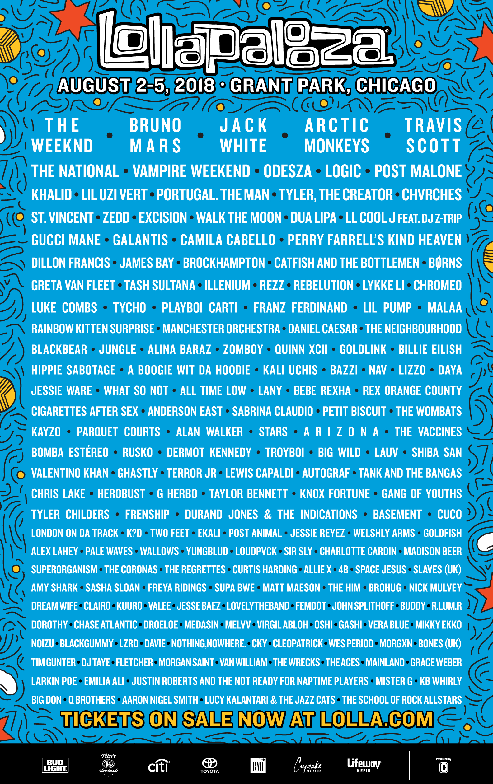 If you're interested in the lineup, which you probably are because there's something there for everyone… purchase tickets here: https://www.lollapalooza.com/tickets/