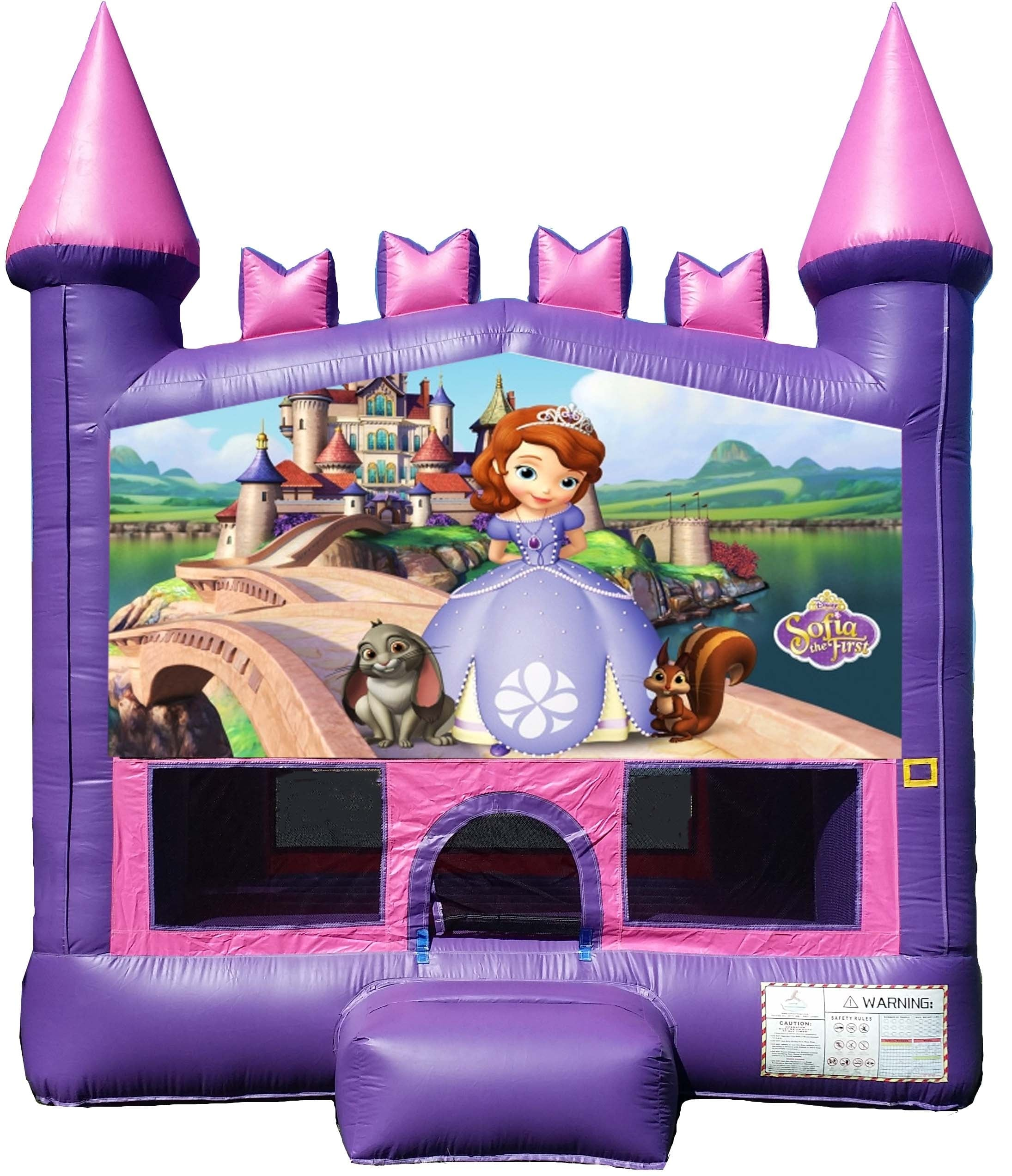 13x13 2in1 Pink and Purple Sofia the First Module Castle Jumper.jpg