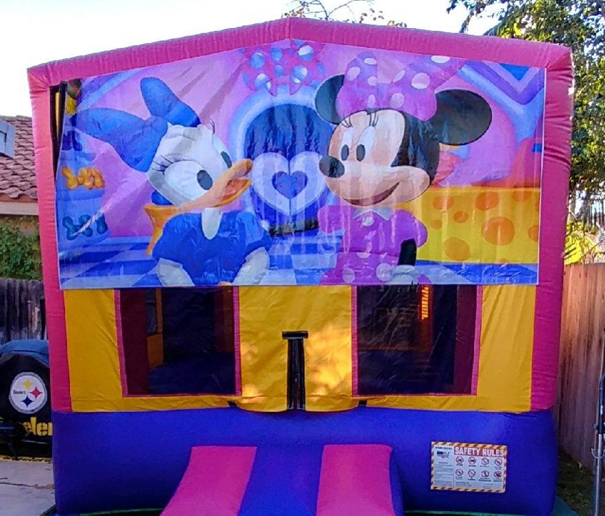 11x11 2in1 Pink and Purple Minnie Mouse Module Combo Jumper