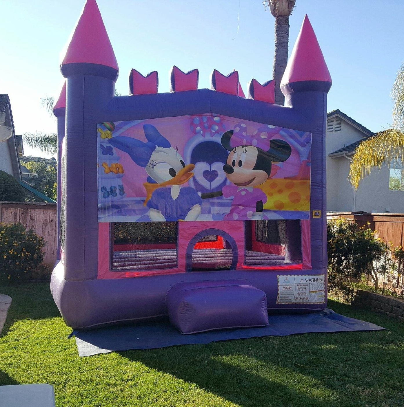 13x13 Pink and Purple Minnie Mouse Castle Jumper