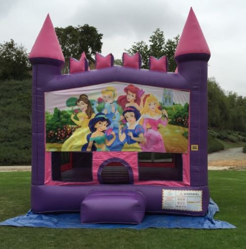 13x13 2in1 Pink and Purple Princesses Castle Combo Jumper.jpg