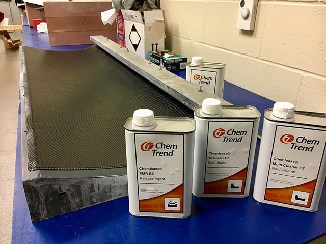 Huge thanks to Chem-Trend for sending us their Chemlease release agent to aid in the layup process ⁣ ⁣ #formula #formulasae #formulastudent #erau #eraumotorsports #racecar #chemtrend #chemlease