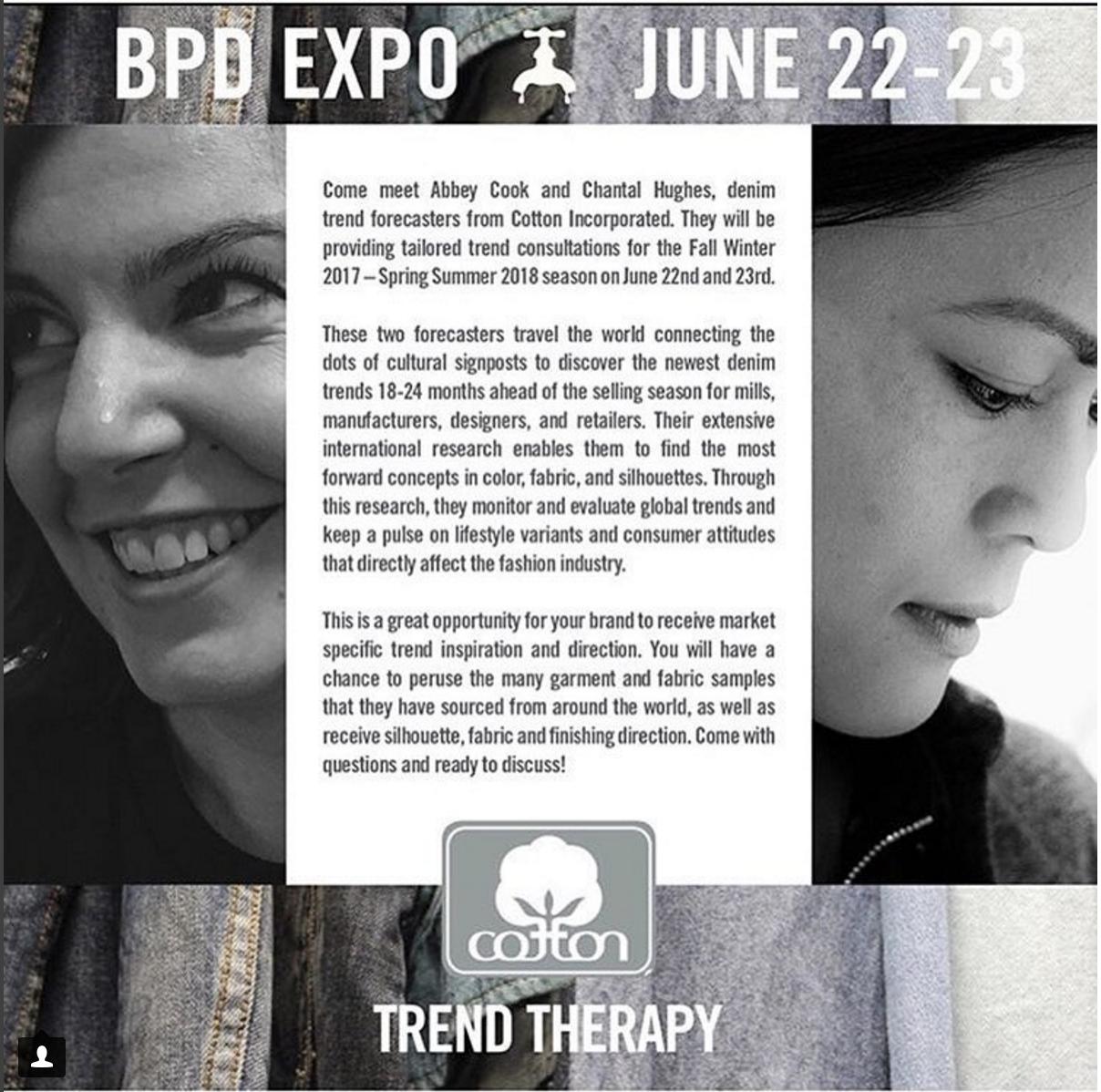 Blueprint Denim Expo - Presented denim trends to major retailers