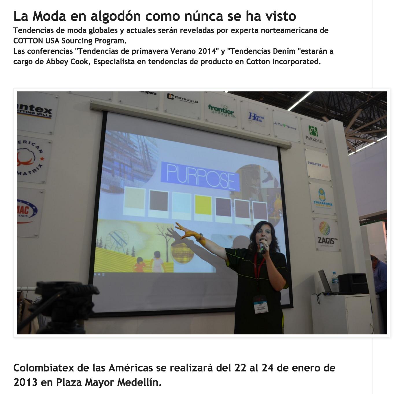 Colombiatex 2013 - Medellin