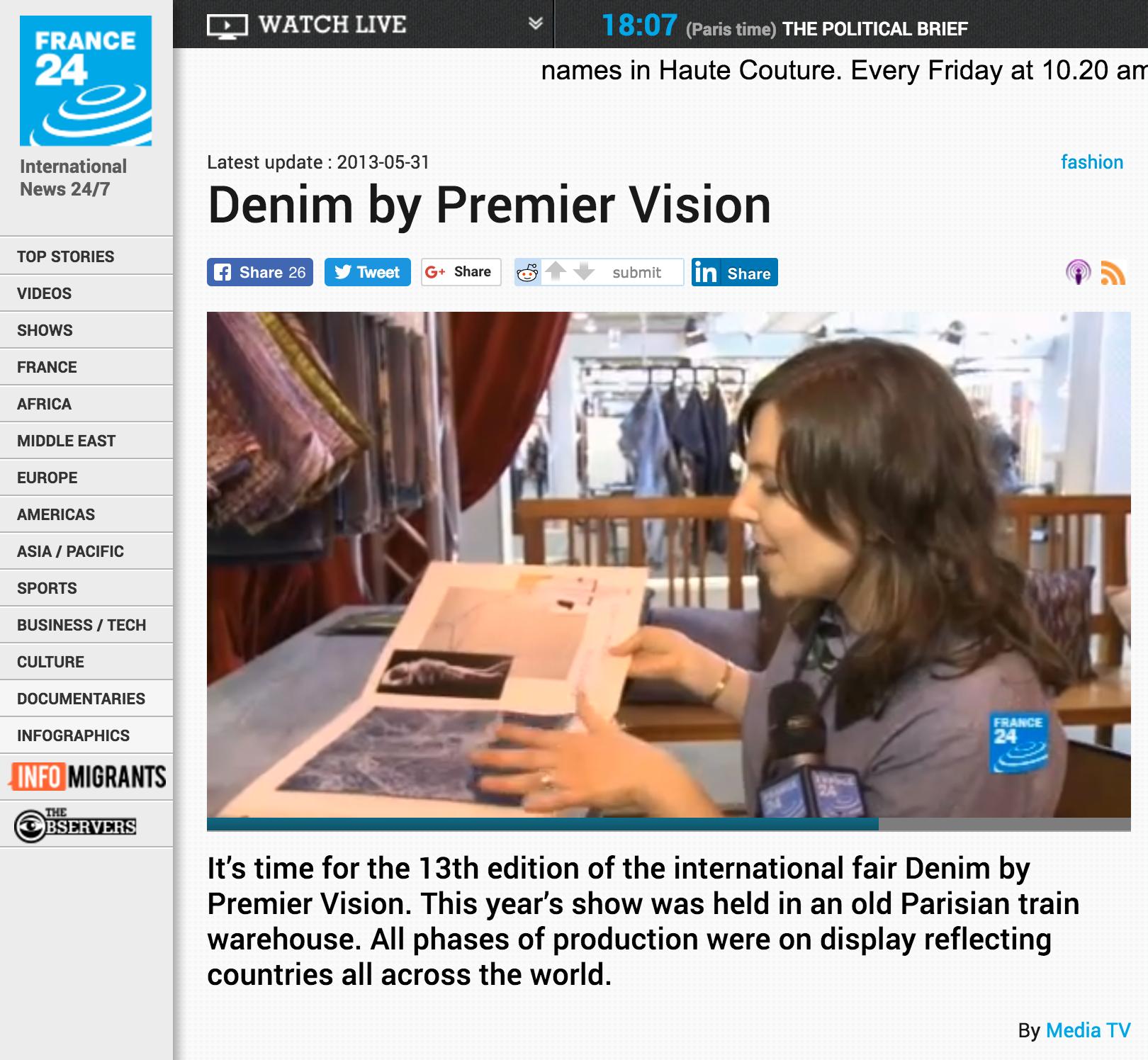 Denim by Premier Vision 2013 (Paris) -France 24 News