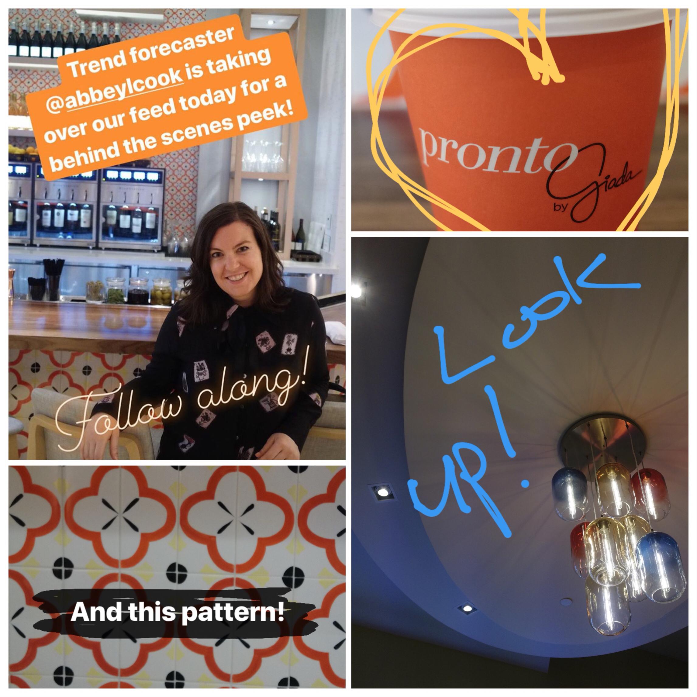 Giadzy Instagram takeover for celebrity chef, Giada De Laurentiis' restaurant, Pronto by Giada
