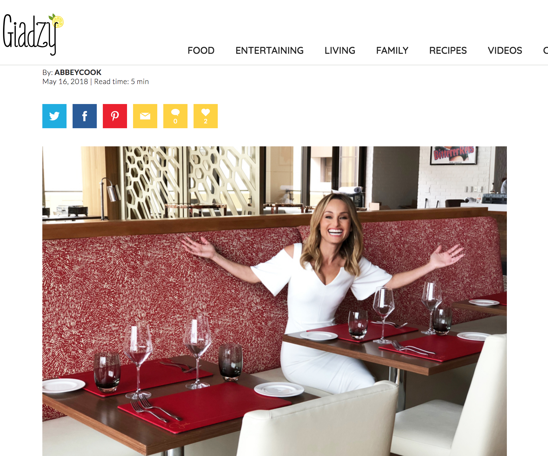 Article written for Giadzy, the lifestyle website by celebrity chef, Giada De Laurentiis
