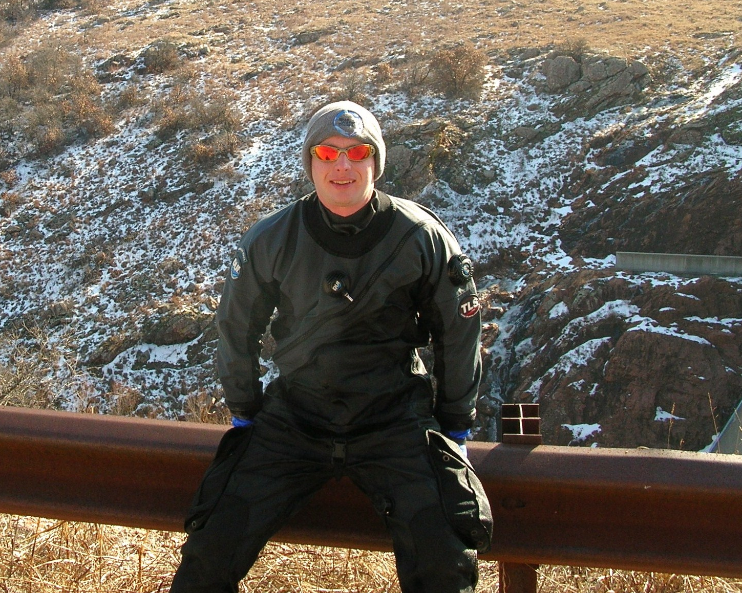 A fun but chilly day at Lake Elmer Thomas in January 2012