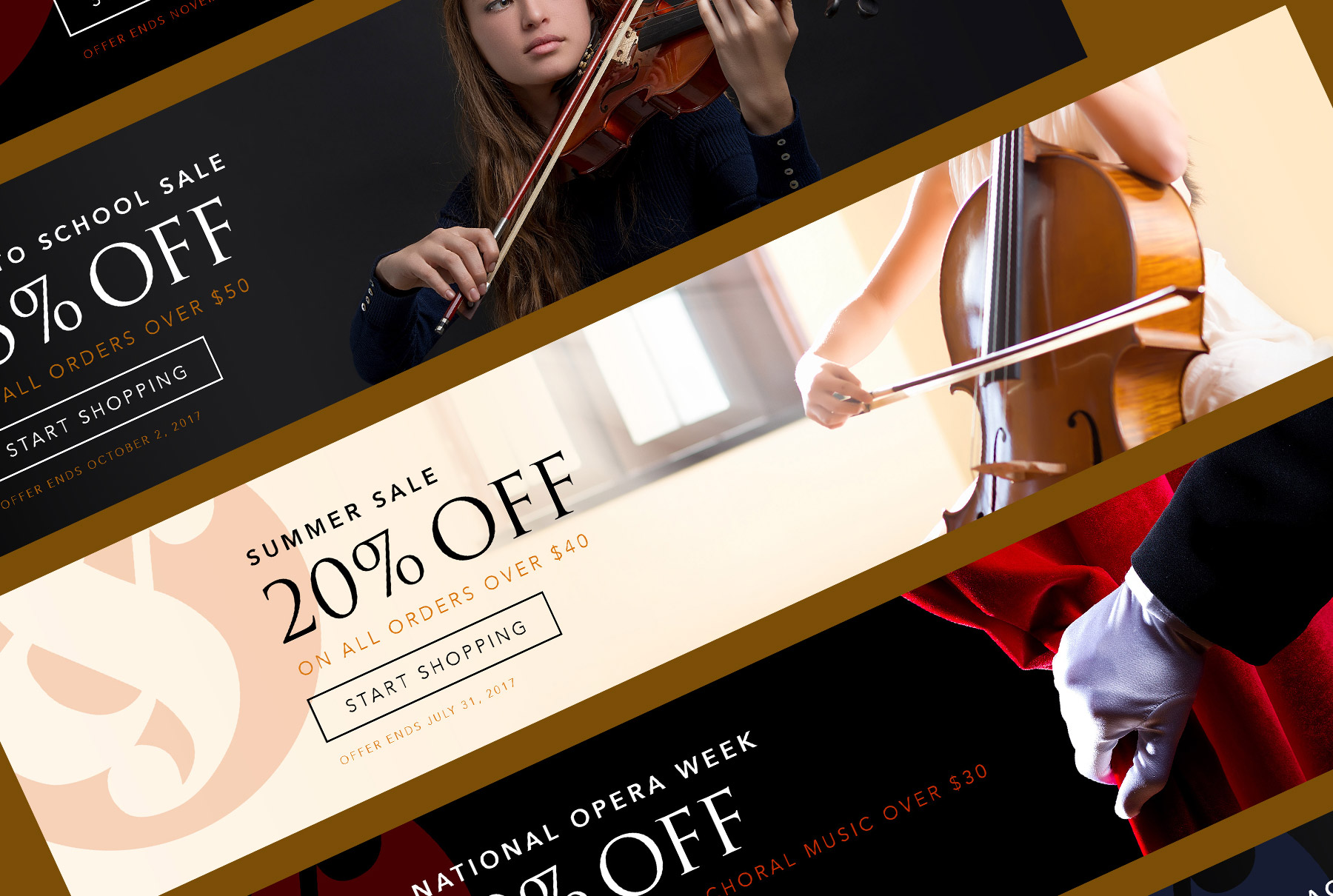 Music Sales Sale Web Banners