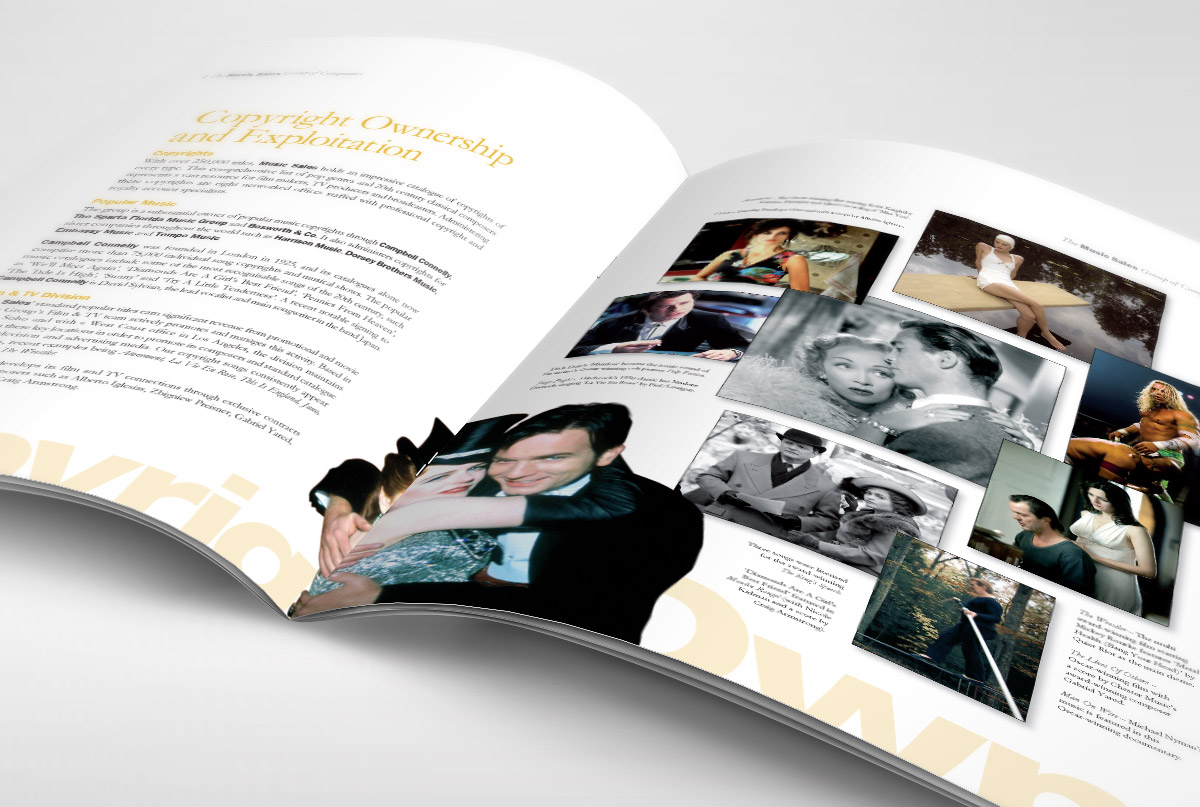 Music Sales company brochure