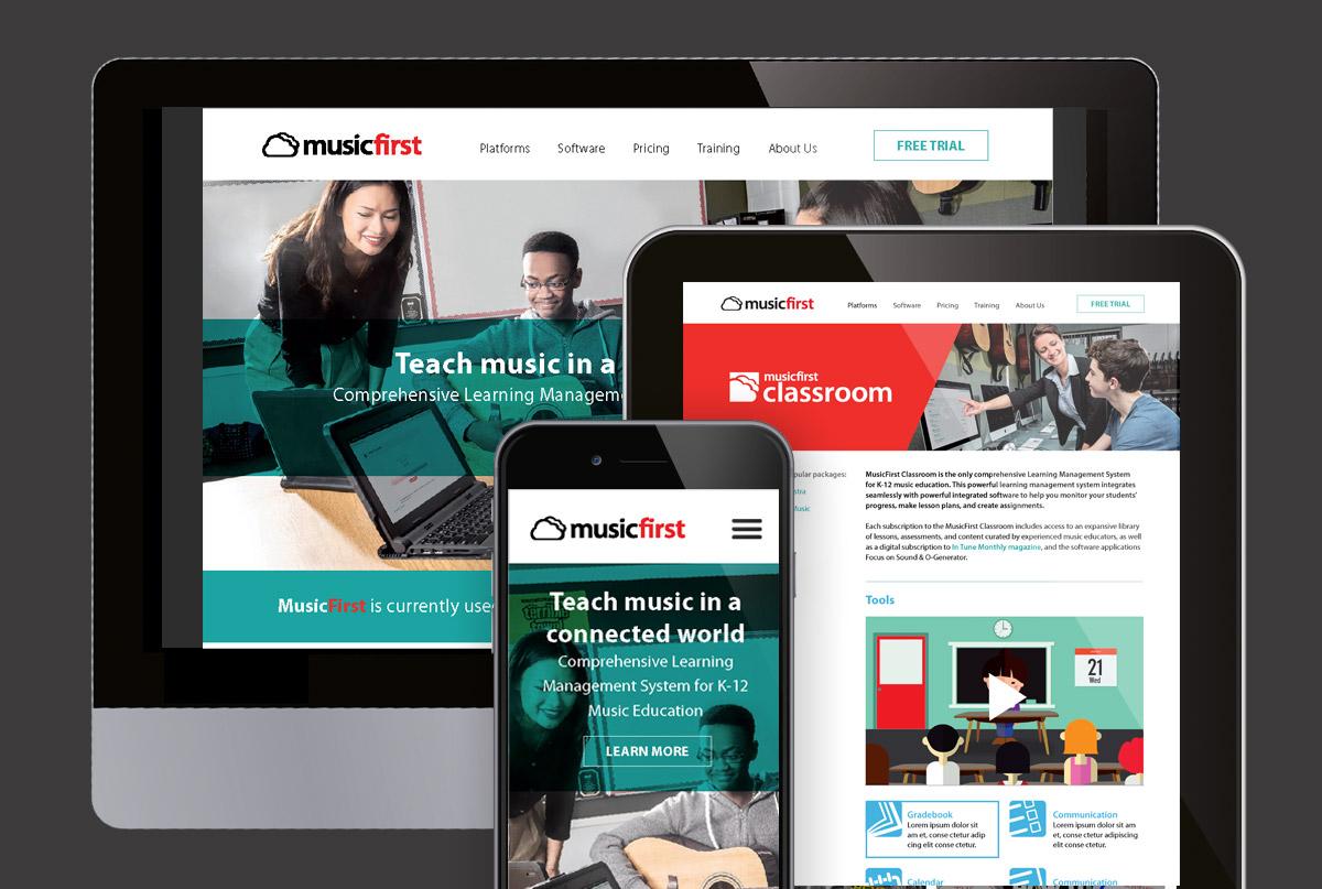 MusicFirst responsive website design